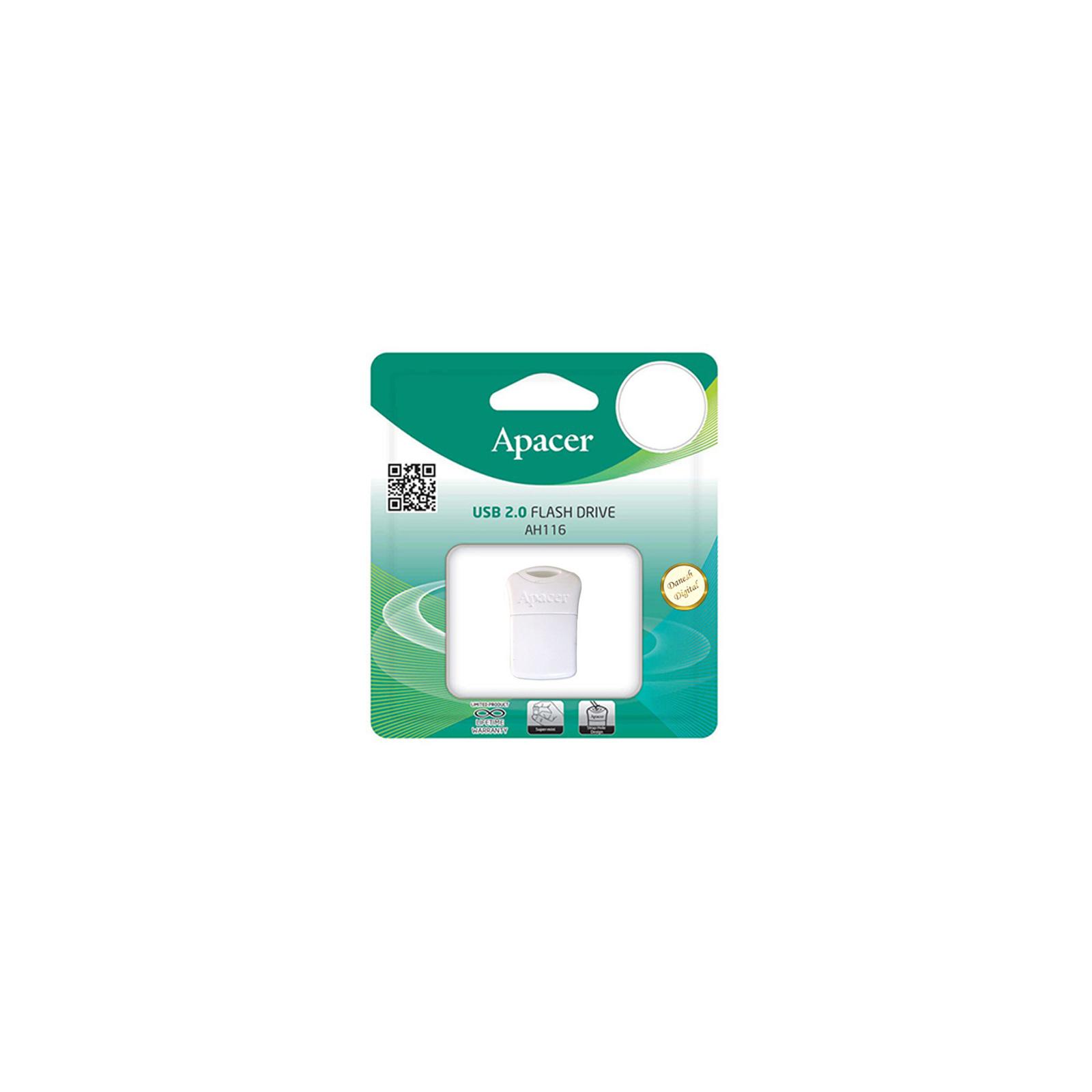 USB флеш накопитель Apacer 32GB AH116 Black USB 2.0 (AP32GAH116B-1) изображение 3