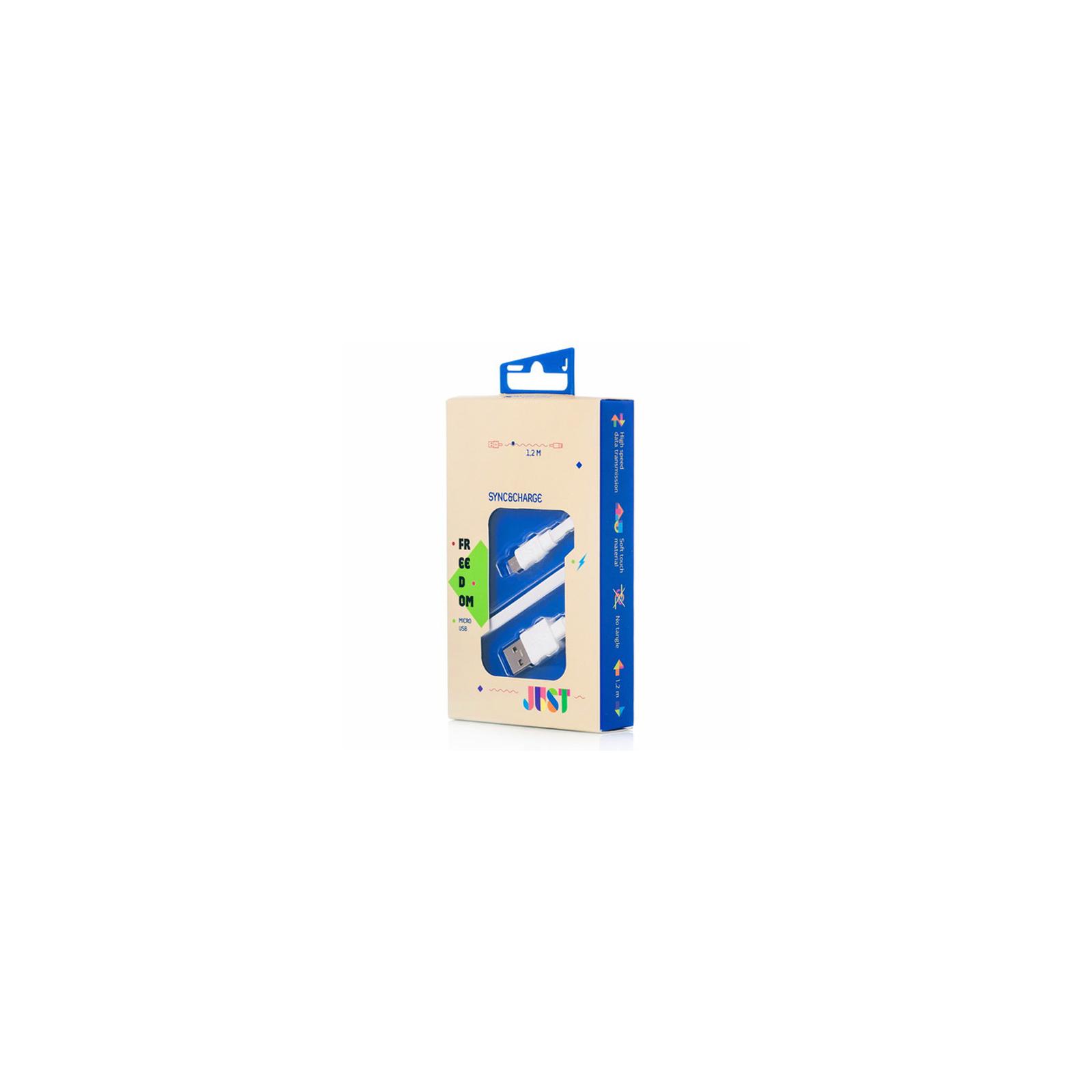 Дата кабель JUST Freedom Micro USB Cable White (MCR-FRDM-WHT) изображение 3