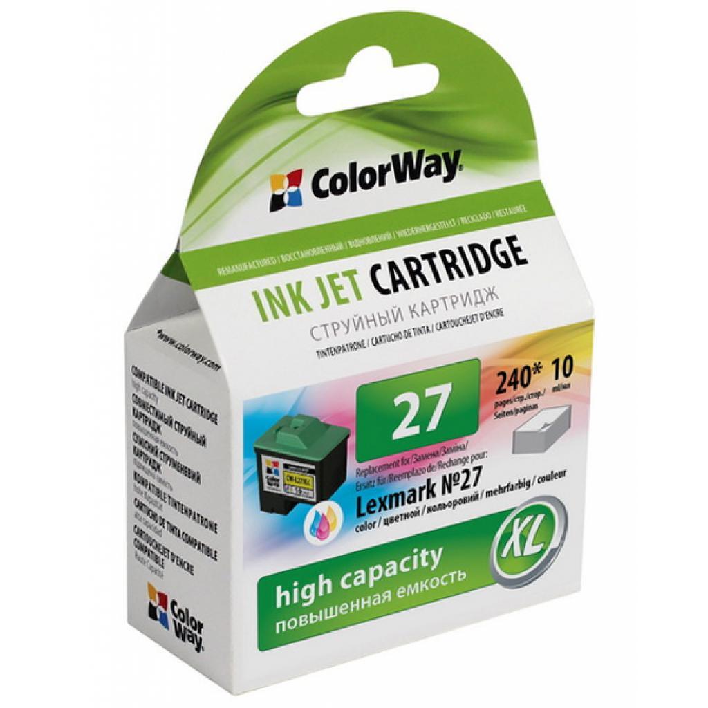 Картридж ColorWay LEXMARK 10N0227 (№27XL) color (CW-L27XLC)