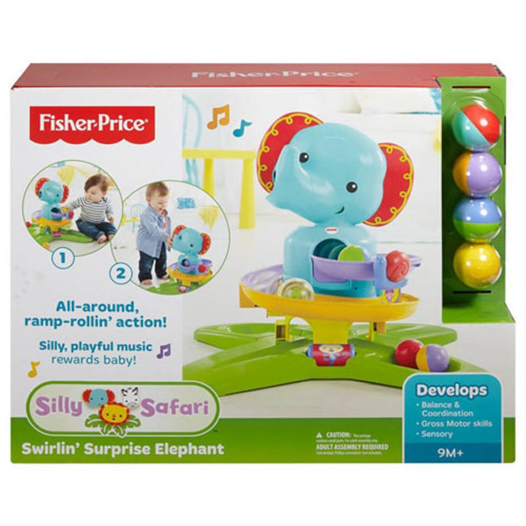 Игровой набор Fisher-Price Музыкальный Слонененок с шариками (DGT87) изображение 3