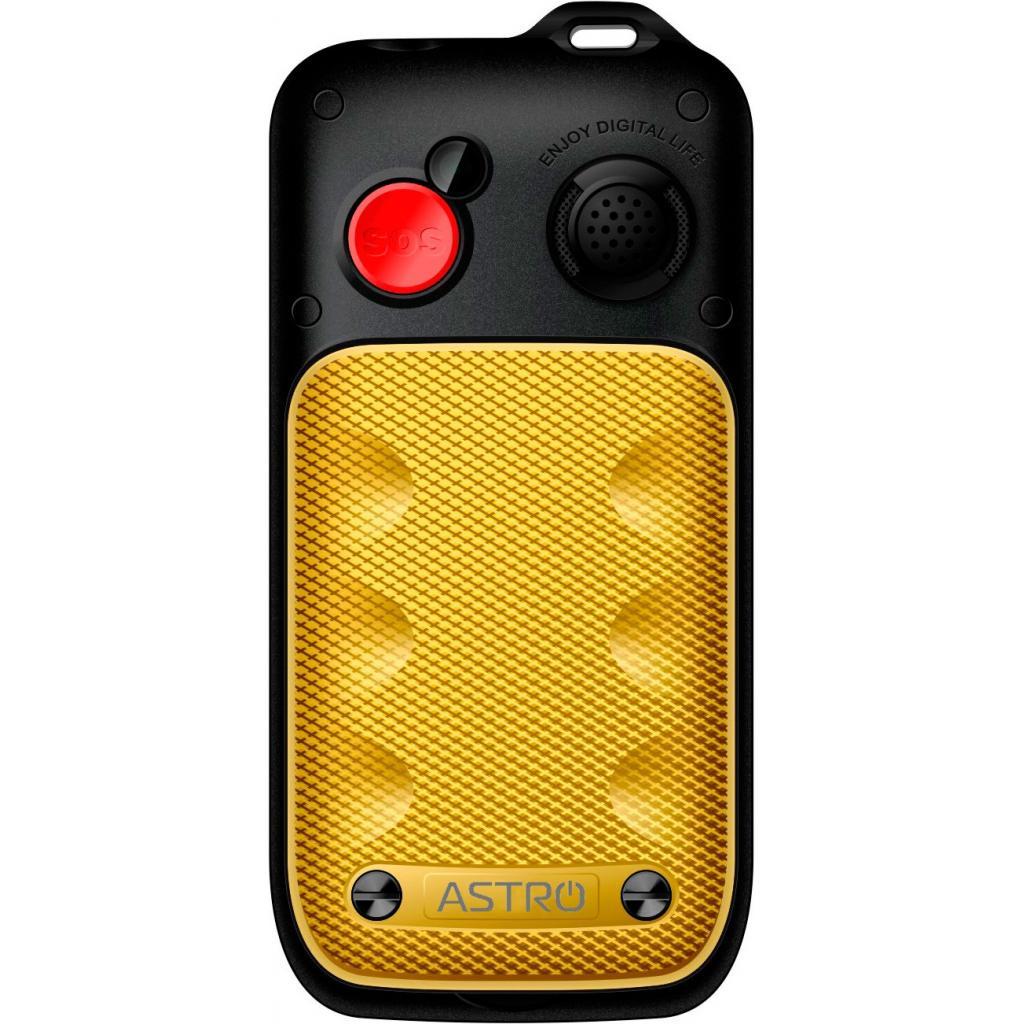 Мобильный телефон Astro B200 RX Black Yellow изображение 2