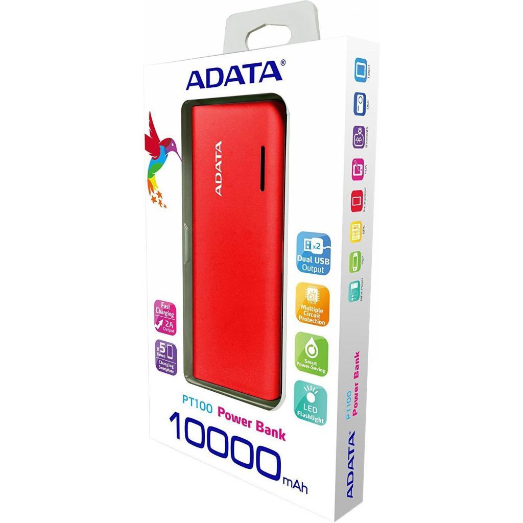 Батарея универсальная ADATA PT100 10000mAh Red-Orange (APT100-10000M-5V-CRDOR) изображение 4