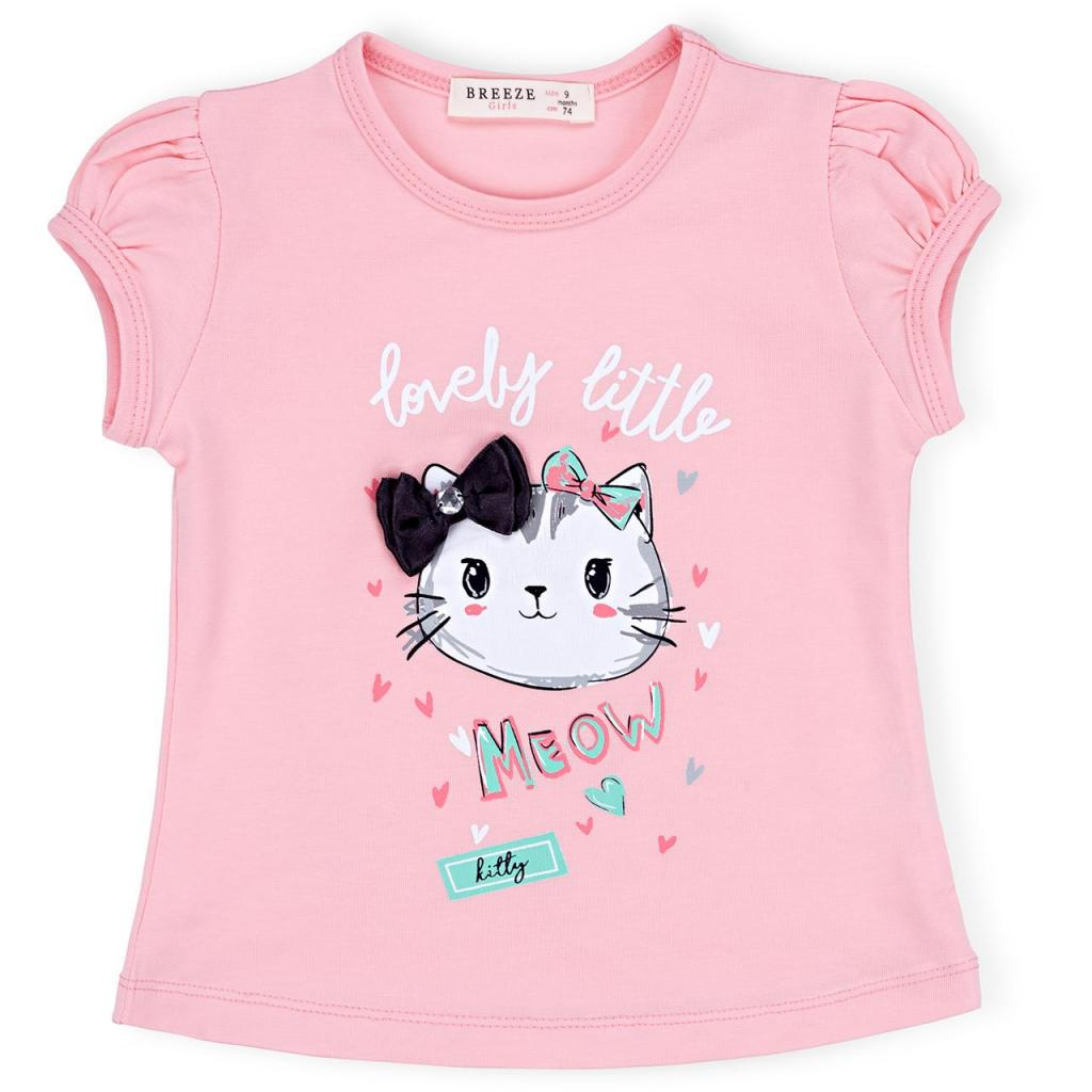 Набор детской одежды Breeze с котиками (7493-86G-pink) изображение 2