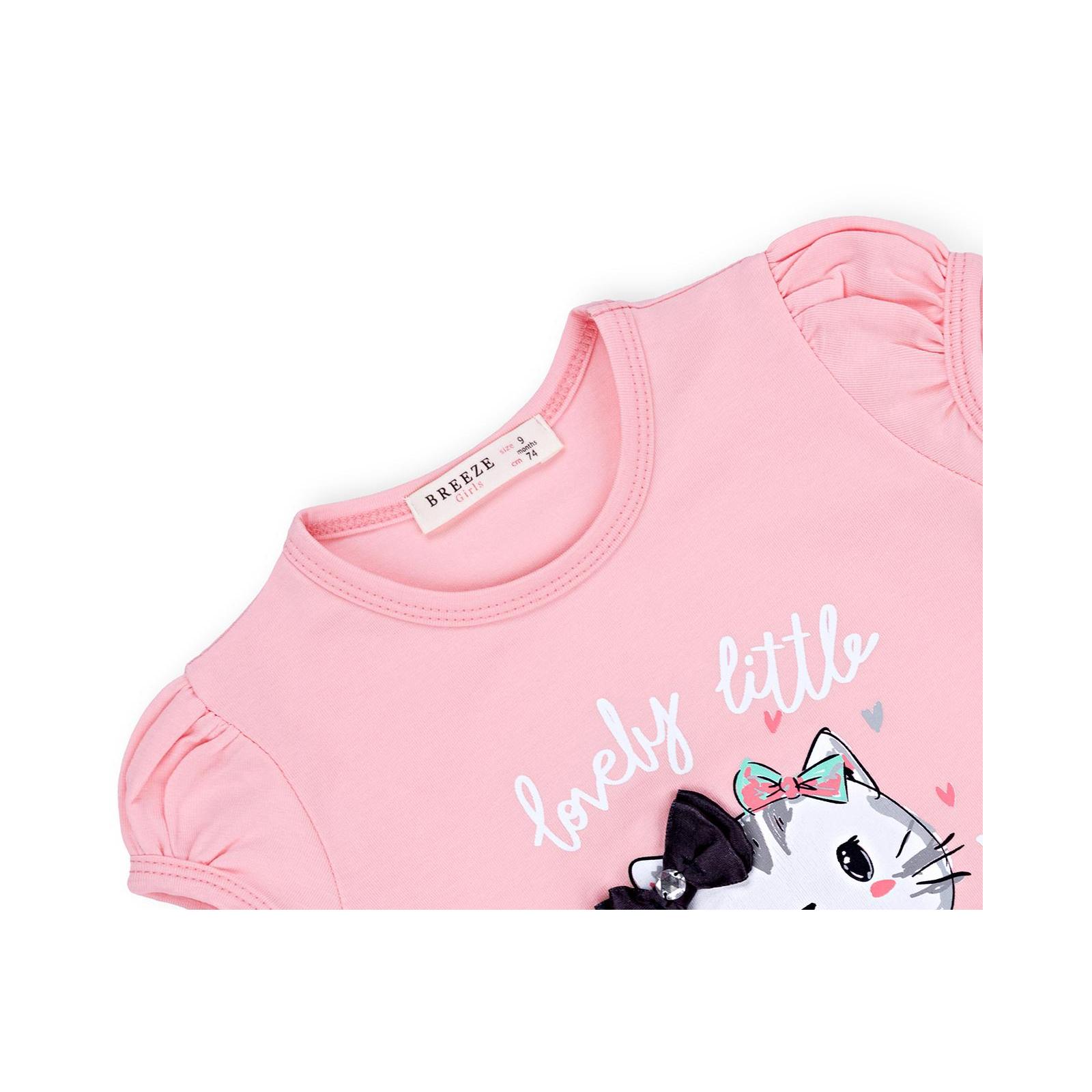 Набор детской одежды Breeze с котиками (7493-86G-pink) изображение 7
