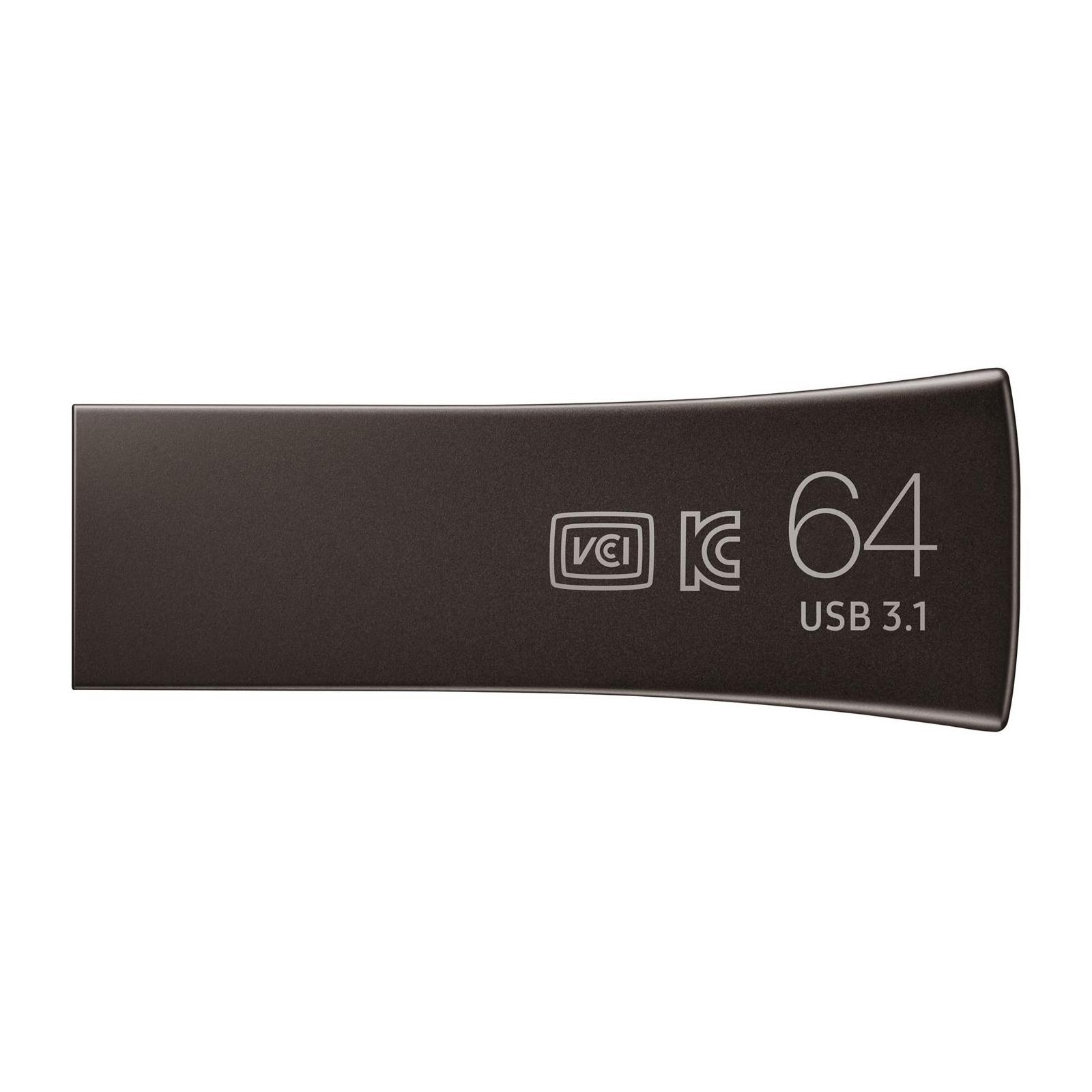 USB флеш накопитель Samsung 32GB Bar Plus Black USB 3.1 (MUF-32BE4/APC) изображение 2