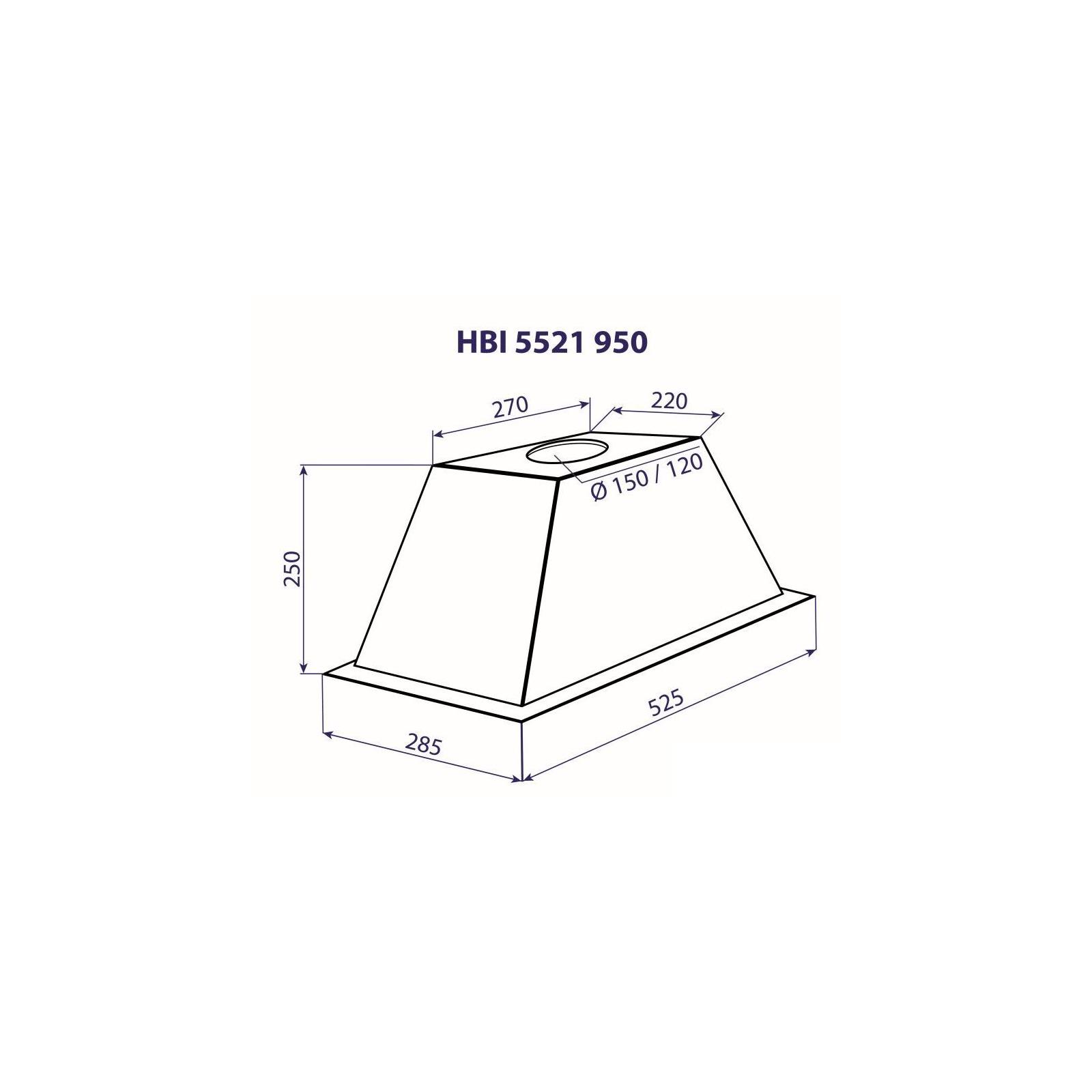 Вытяжка кухонная MINOLA HBI 5521 WH 950 изображение 3