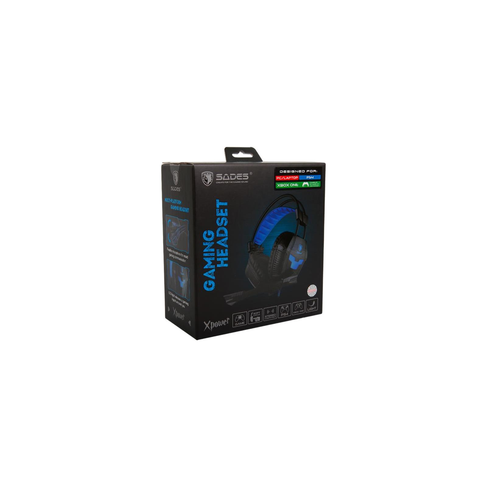 Наушники SADES Xpower Black/Blue (SA706-B-BL) изображение 9