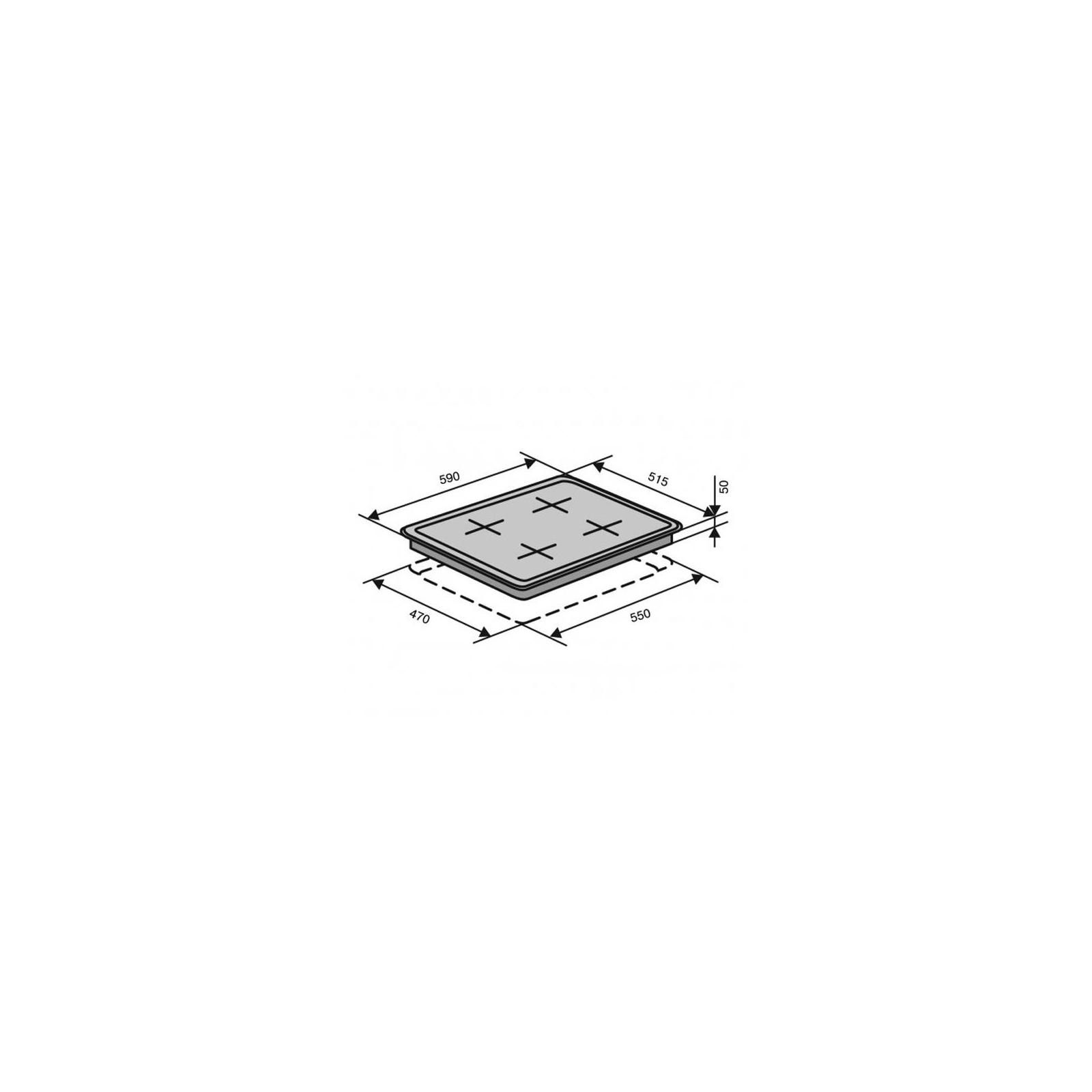 Варочная поверхность VENTOLUX HSF640-R3G CESBT (WH) изображение 5
