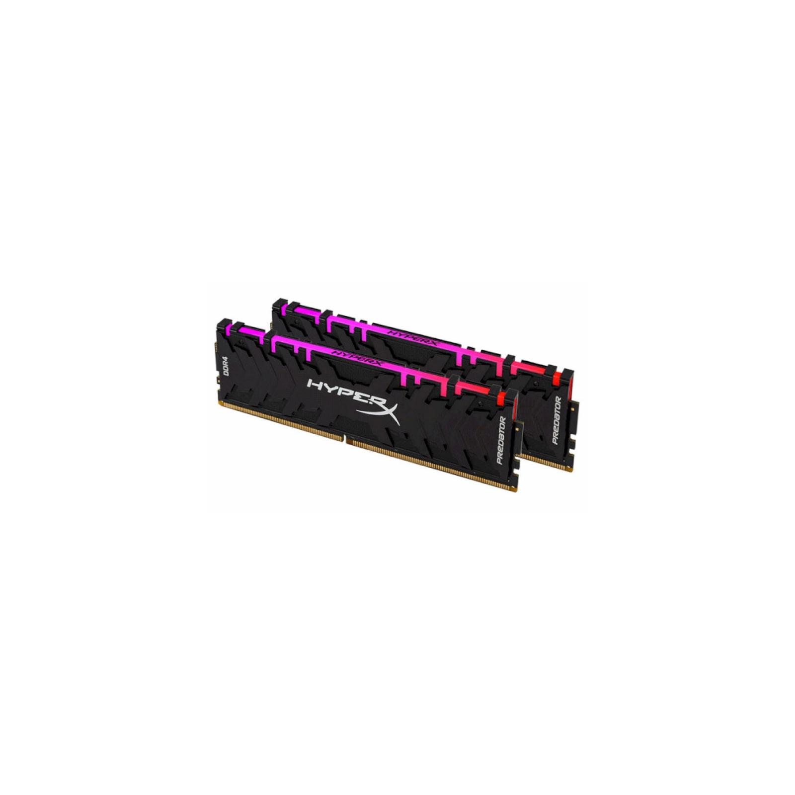 Модуль памяти для компьютера DDR4 16GB (2x8GB) 3600 MHz HyperX Predator RGB Kingston (HX436C17PB4AK2/16) изображение 2