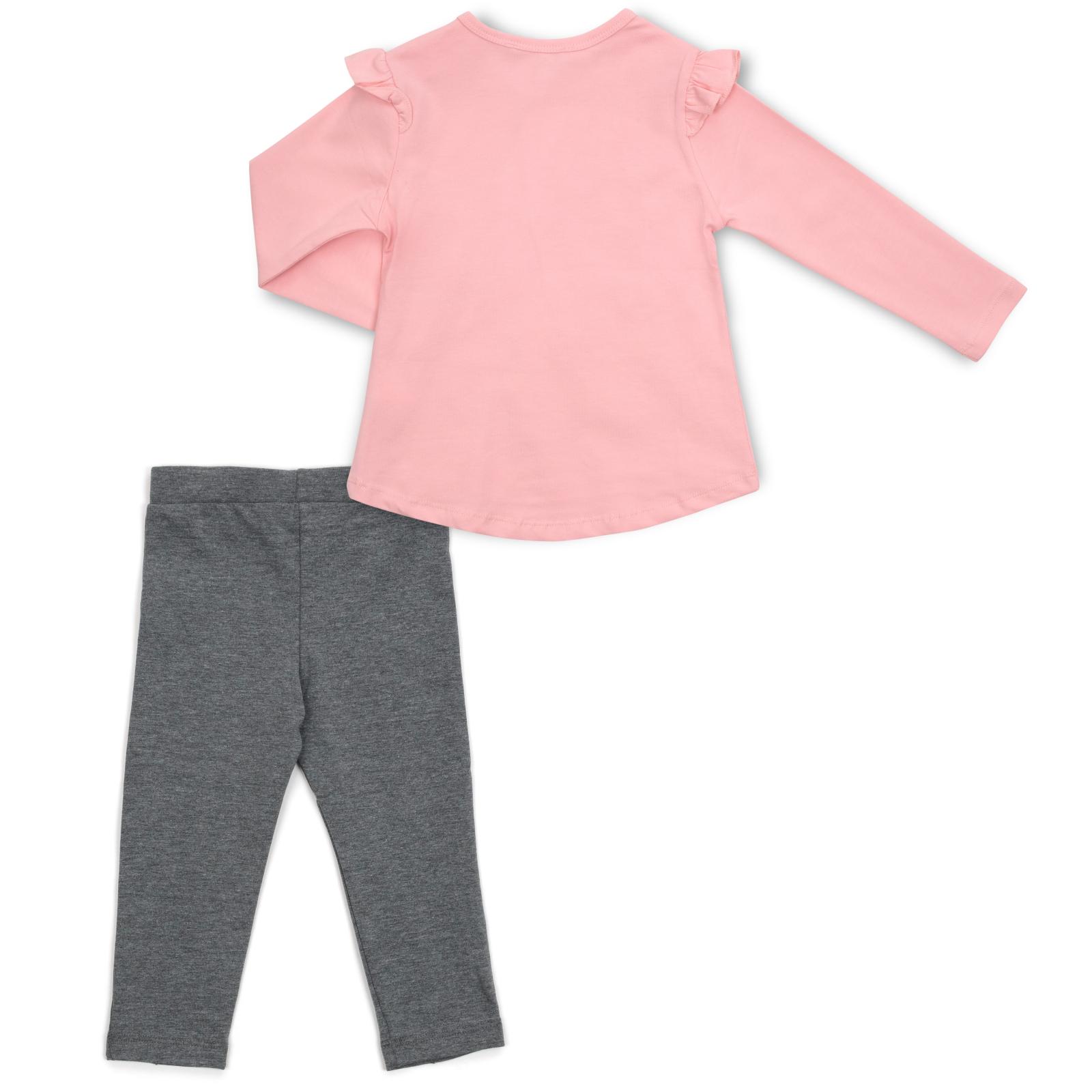 Набор детской одежды Breeze с зайчиком в цветах (13299-92G-pink) изображение 4