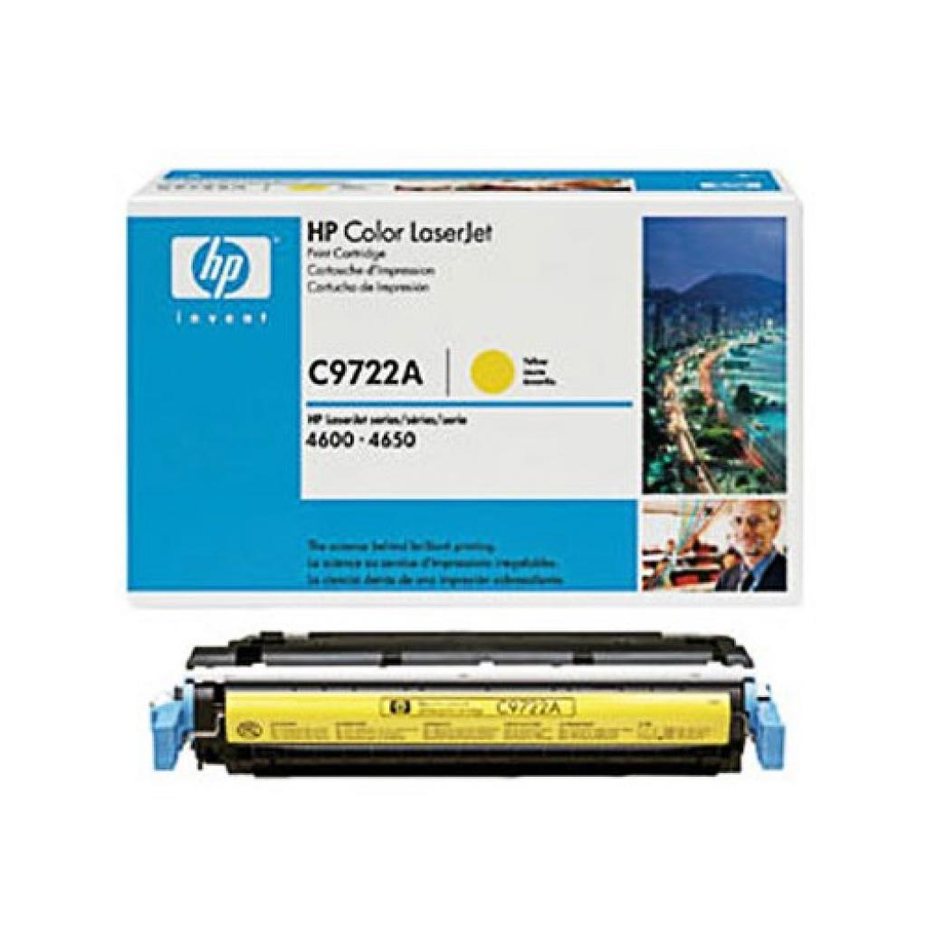 Картридж CLJ4600 yellow HP (C9722A) изображение 2