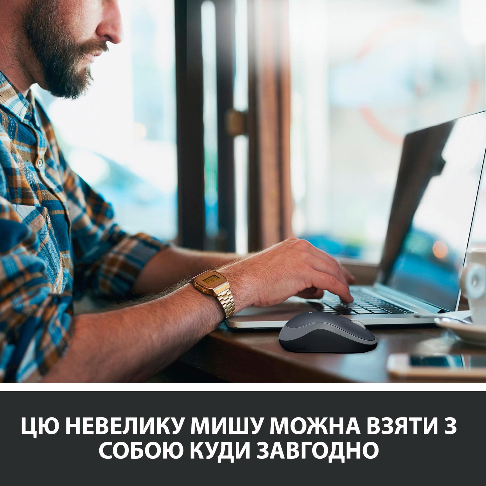 Мышка Logitech M185 blue (910-002239) изображение 3