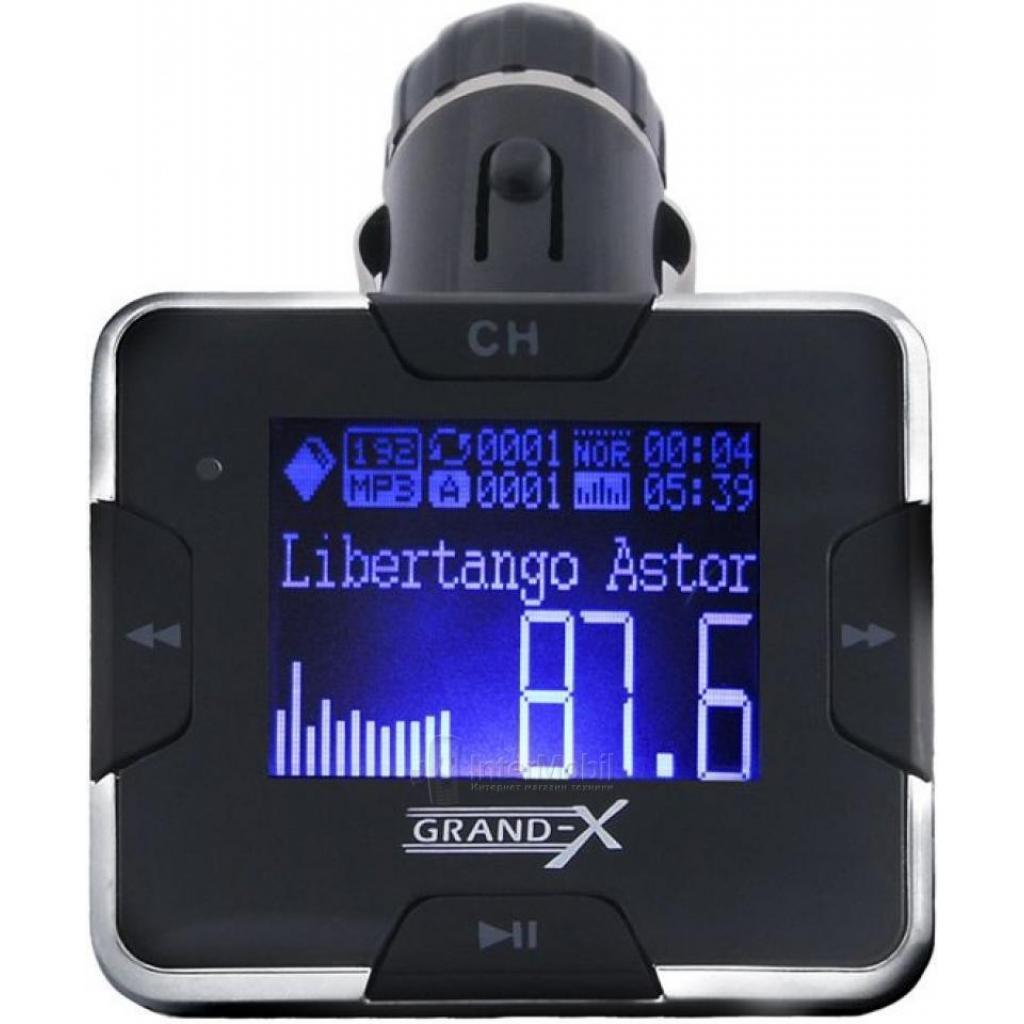 Автомобильный MP3-FM модулятор Grand-X CUFM22GRX silver SD/USB (CUFM22GRX silver) изображение 3
