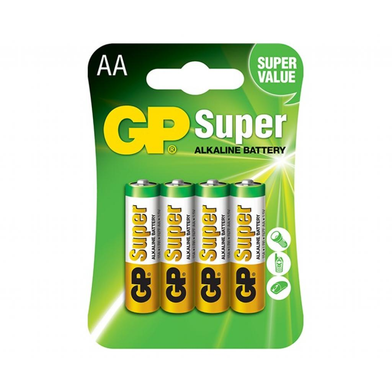 Батарейка GP AA LR6 Super Alcaline * 4 (GP15A-2UE4)