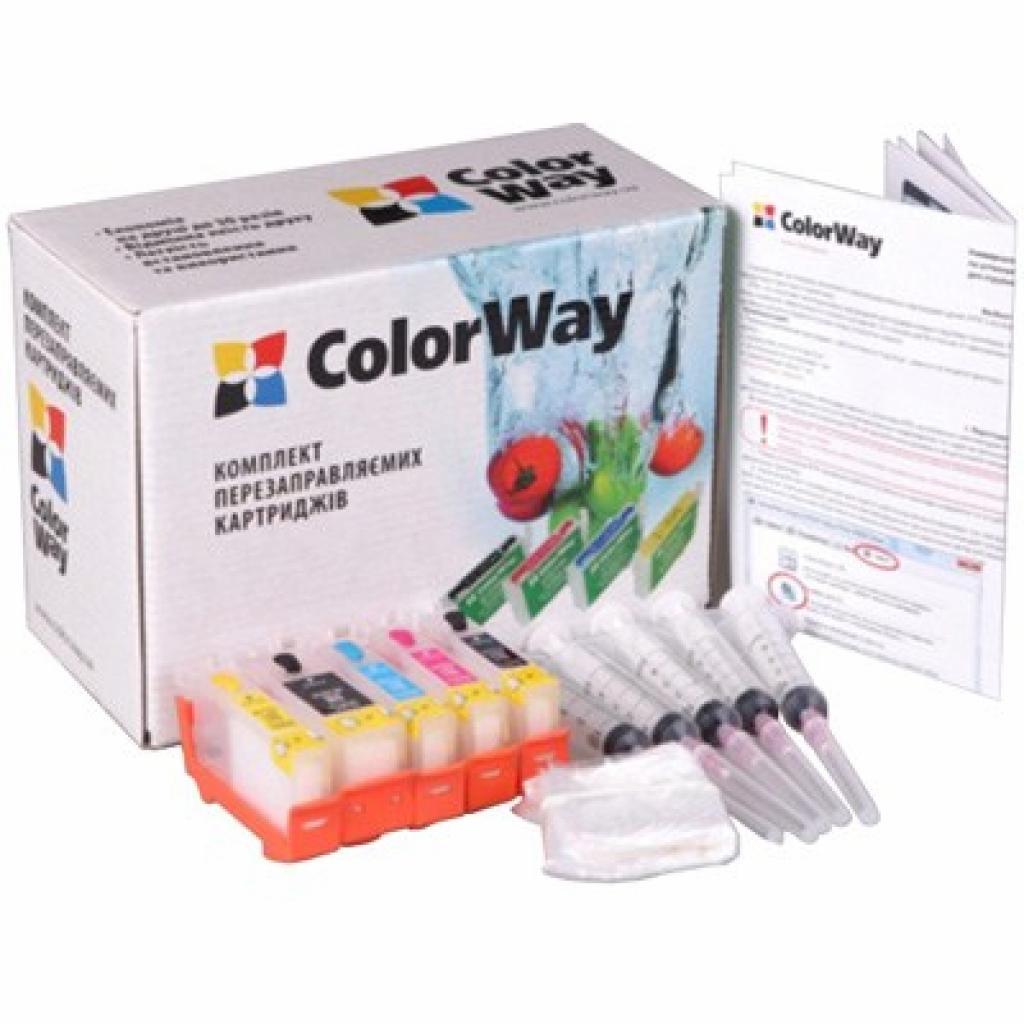 Комплект перезаправляемых картриджей ColorWay Canon IP4840/4940 MG5140/5240 chip (IP4840RC-0.0)