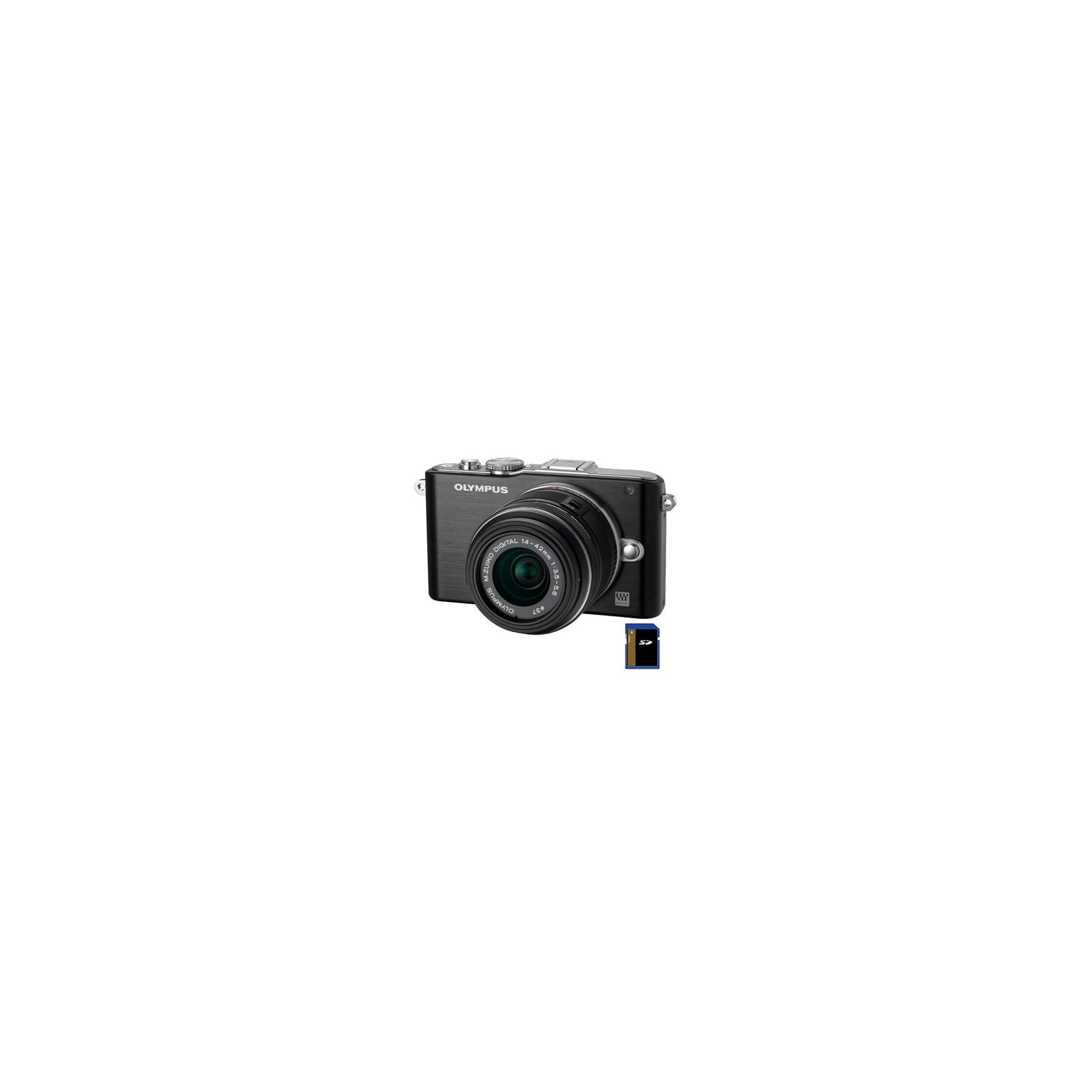 Цифровой фотоаппарат OLYMPUS PEN E-PL3 14-42 mm kit black/black (V20503BBE000/V205031BE000)