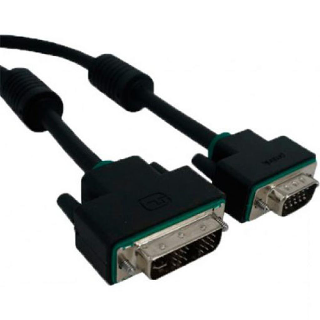 Кабель мультимедийный DVI-I(Single link) Plug- VGA Plug 1.5m Prolink (PB464-0150)