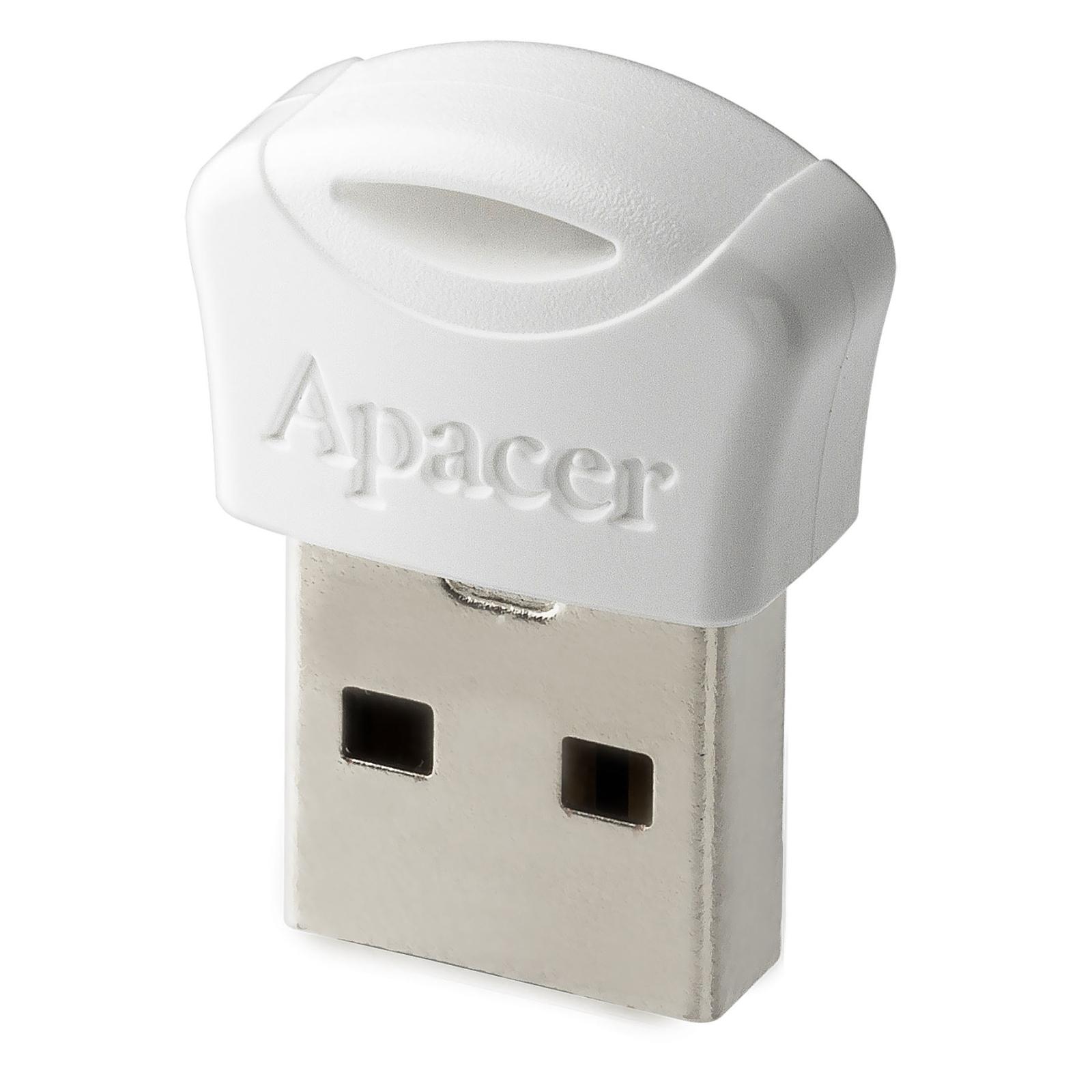 USB флеш накопитель Apacer 16GB AH116 White USB 2.0 (AP16GAH116W-1) изображение 2