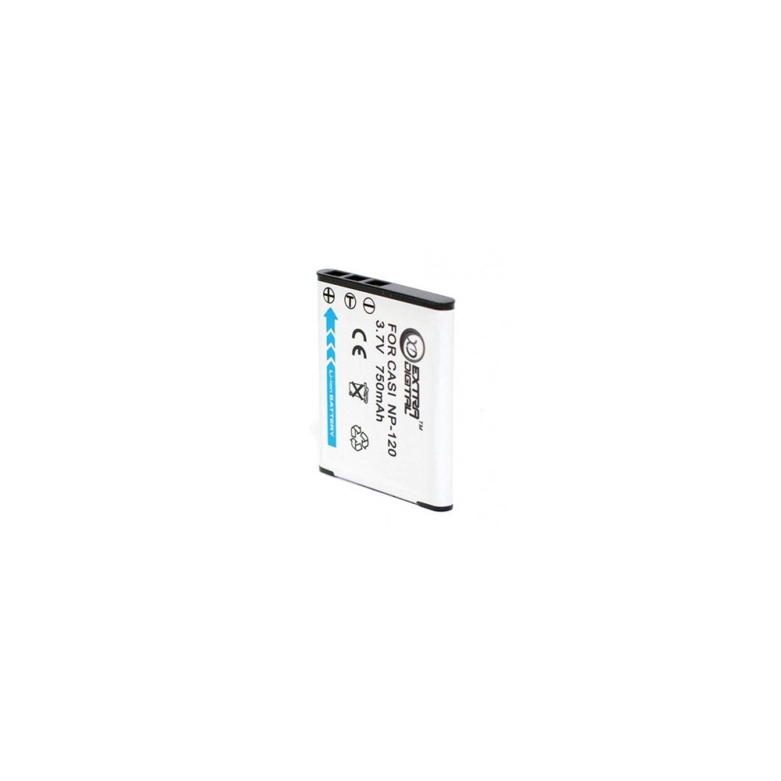 Аккумулятор к фото/видео EXTRADIGITAL Casio NP-120 (DV00DV1343) изображение 2