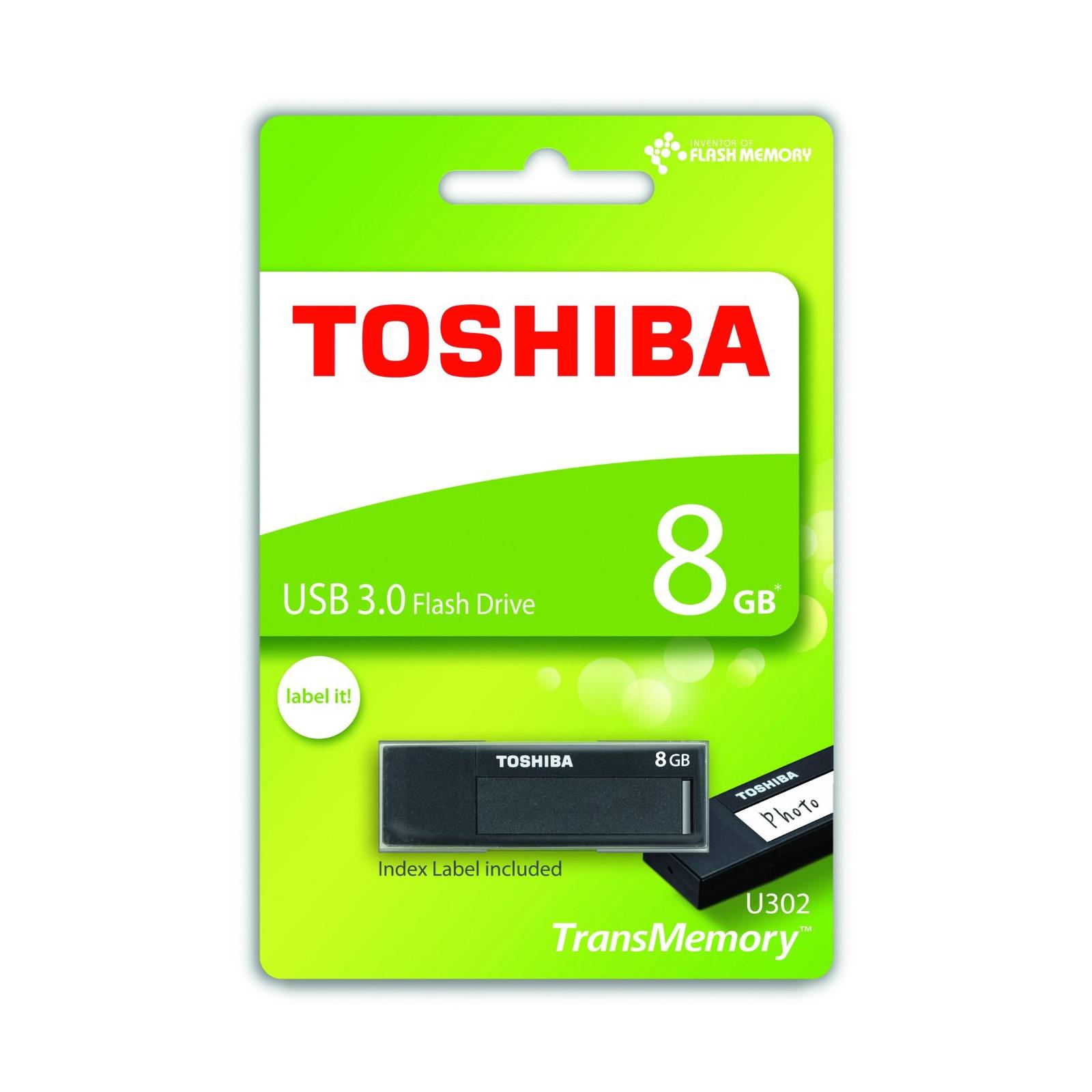 USB флеш накопитель TOSHIBA 8GB Daichi Black USB 3.0 (THN-U302K0080M4) изображение 3