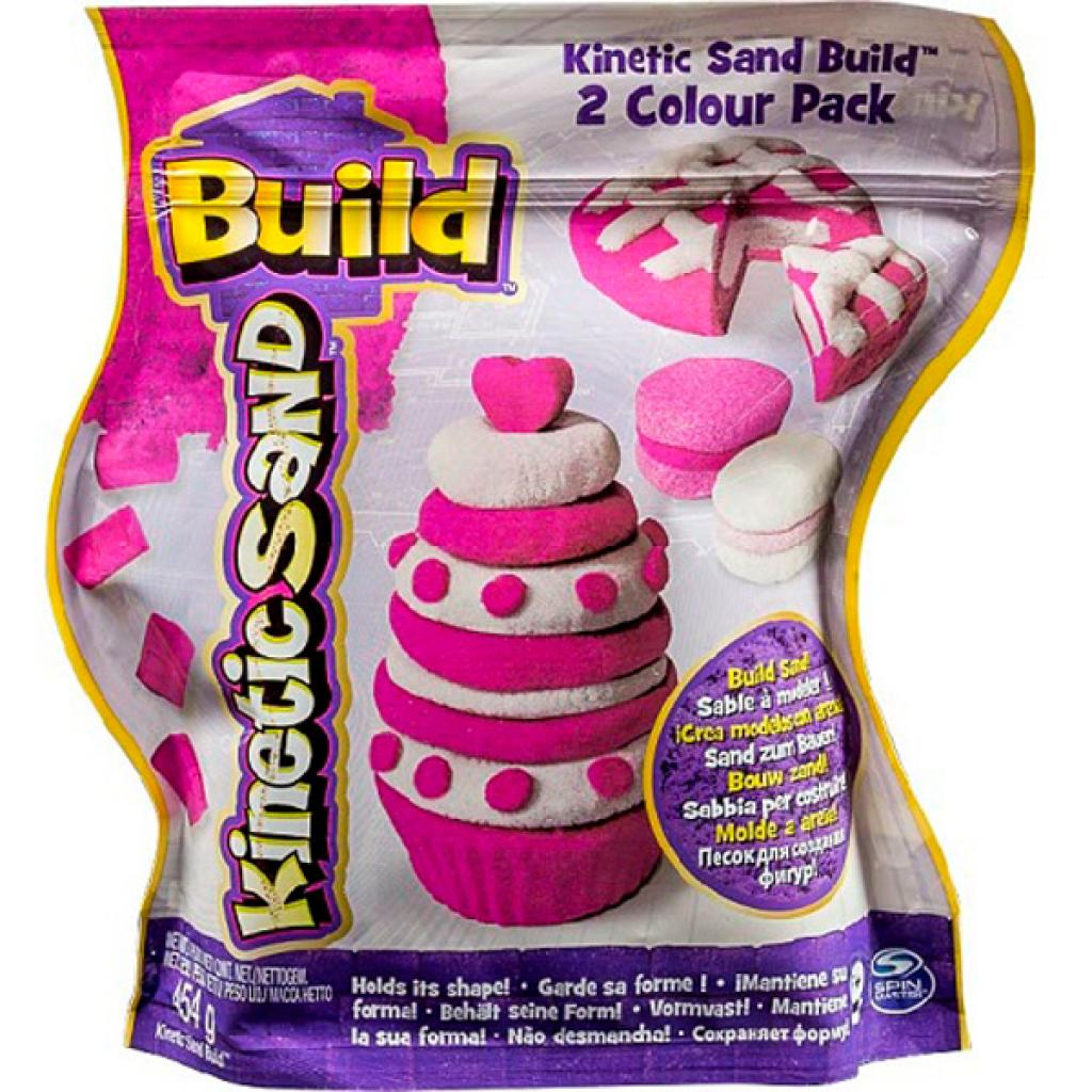 Набор для творчества Wacky-Tivities Kinetic sand build белый, розовый (71428WPn)