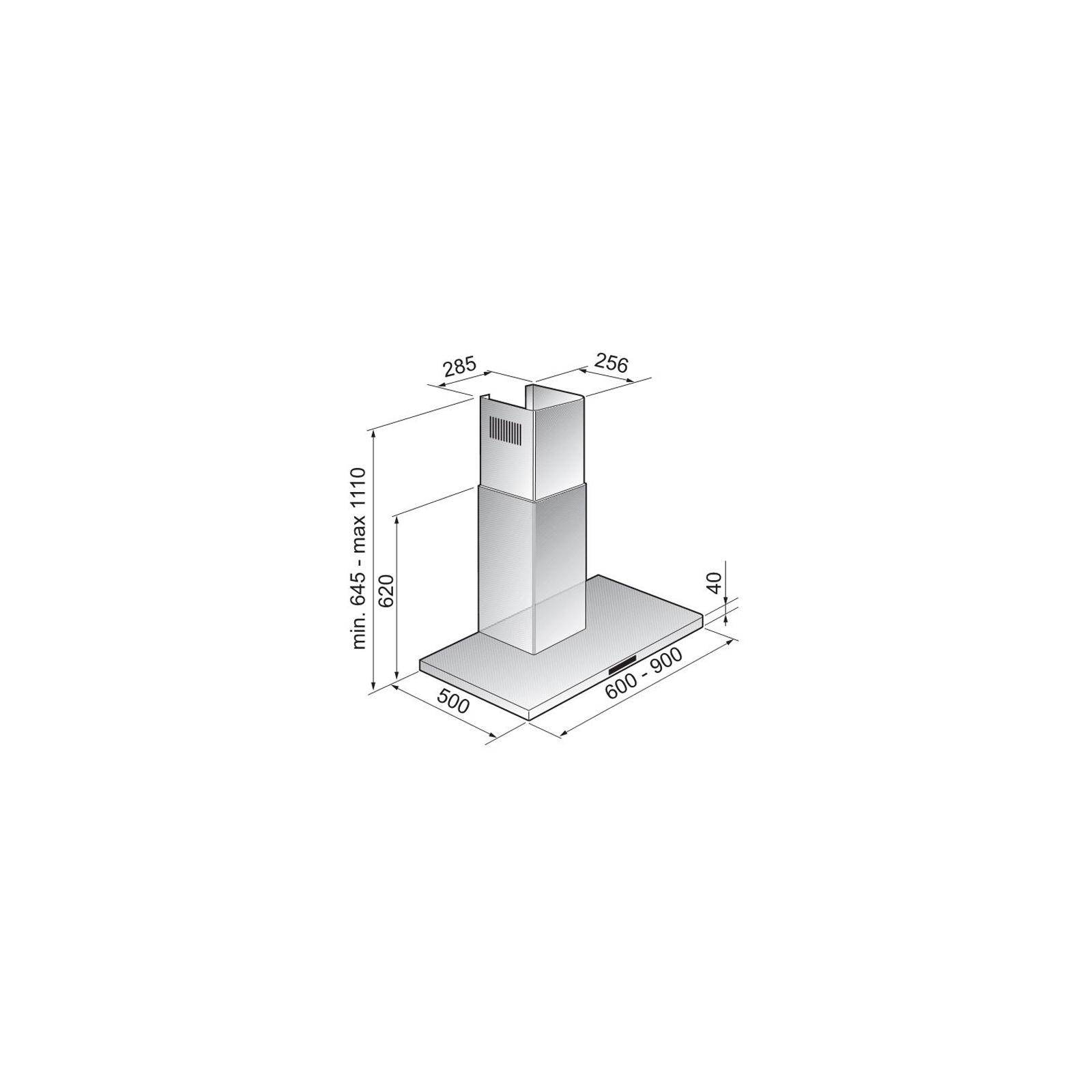 Вытяжка кухонная ZIRTAL KD-SW 60 IX изображение 2