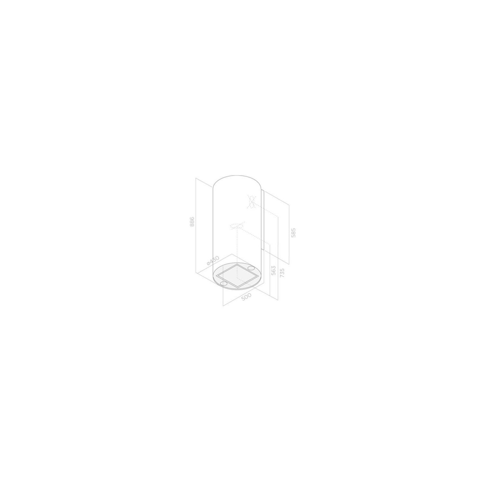 Вытяжка кухонная Elica TUBE PRO WH/A/43 изображение 2