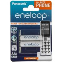 Аккумулятор PANASONIC Eneloop AAA 750mAh NI-MH Dect Series * 2 (BK-4MCCE/2DE)