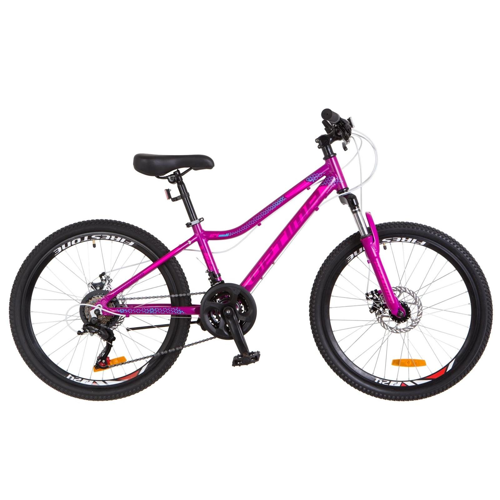 "Велосипед Optimabikes 24"" BLACKWOOD 2018 AM 14G DD рама-12,5"" Al фиолетово-розовый (OPS-OP-24-034)"