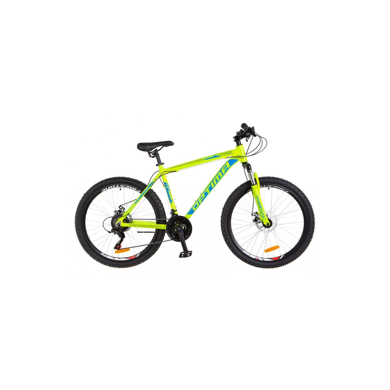 "Велосипед Optimabikes 26"" MOTION 2018 AM 14G DD рама-13"" Al салатово-синий (OPS-OP-26-113)"