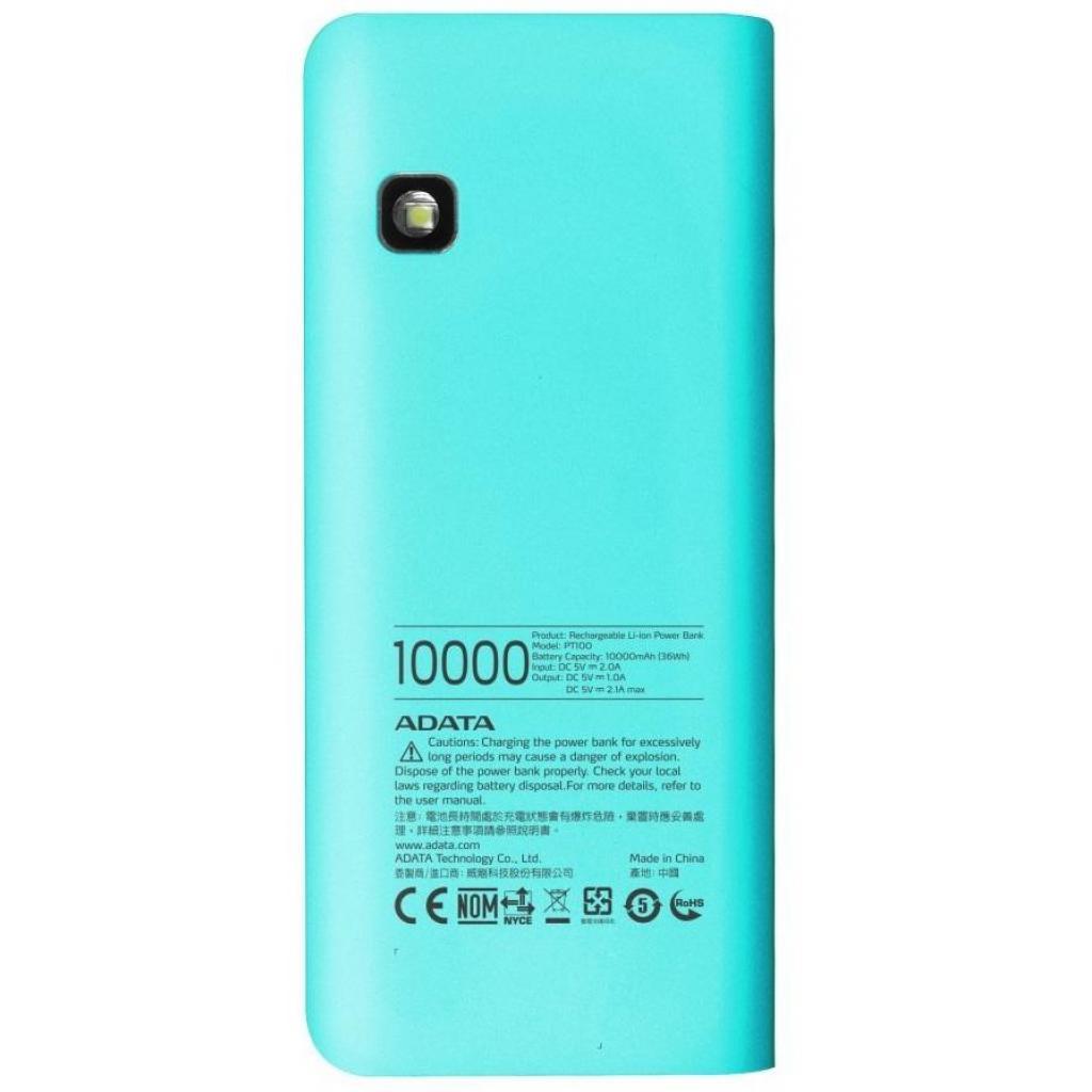Батарея универсальная ADATA PT100 10000mAh Blue-Pink (APT100-10000M-5V-CTBPK) изображение 2