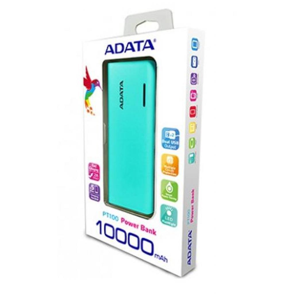 Батарея универсальная ADATA PT100 10000mAh Blue-Pink (APT100-10000M-5V-CTBPK) изображение 5