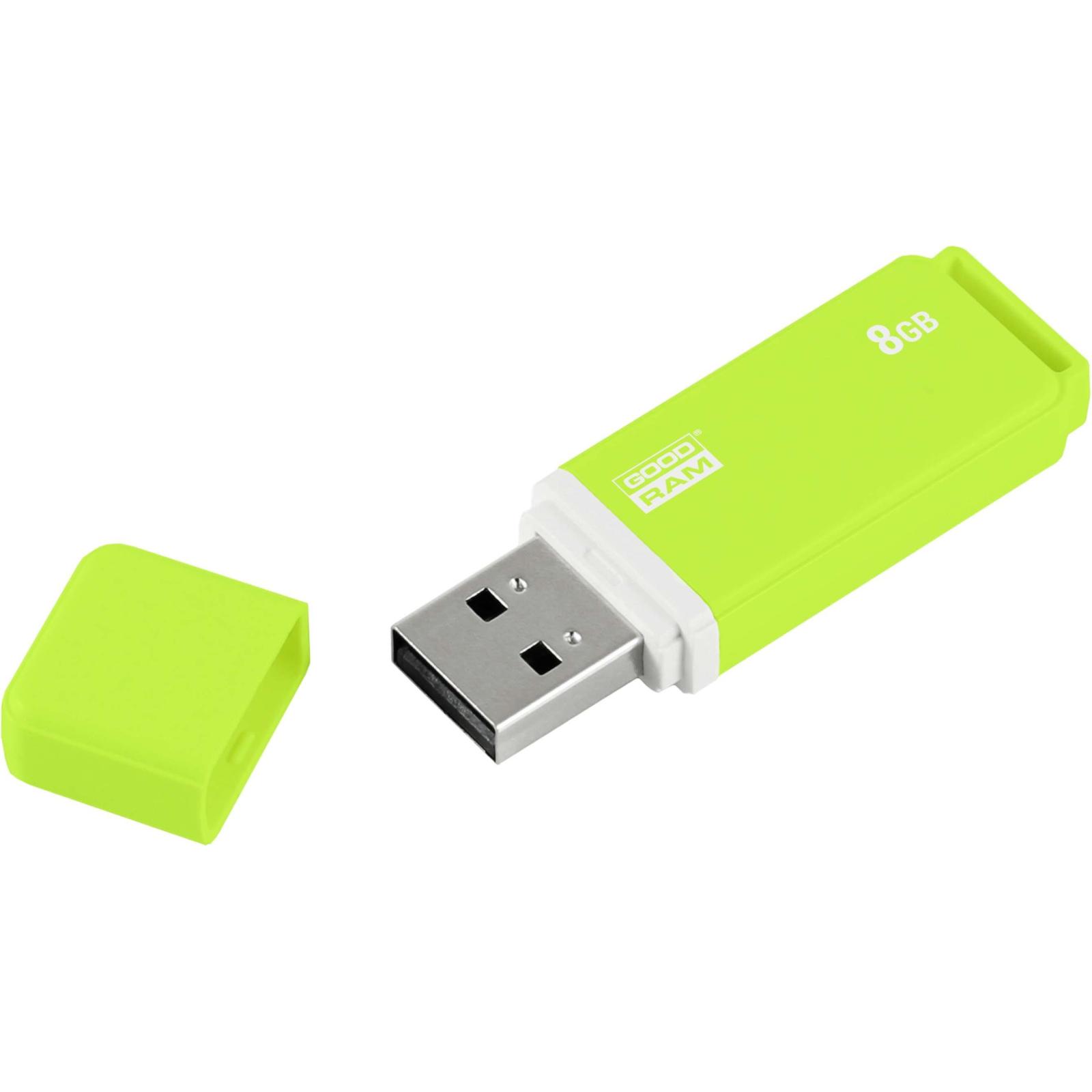 USB флеш накопитель Goodram 8GB UMO2 Green USB 2.0 (UMO2-0080G0R11) изображение 3