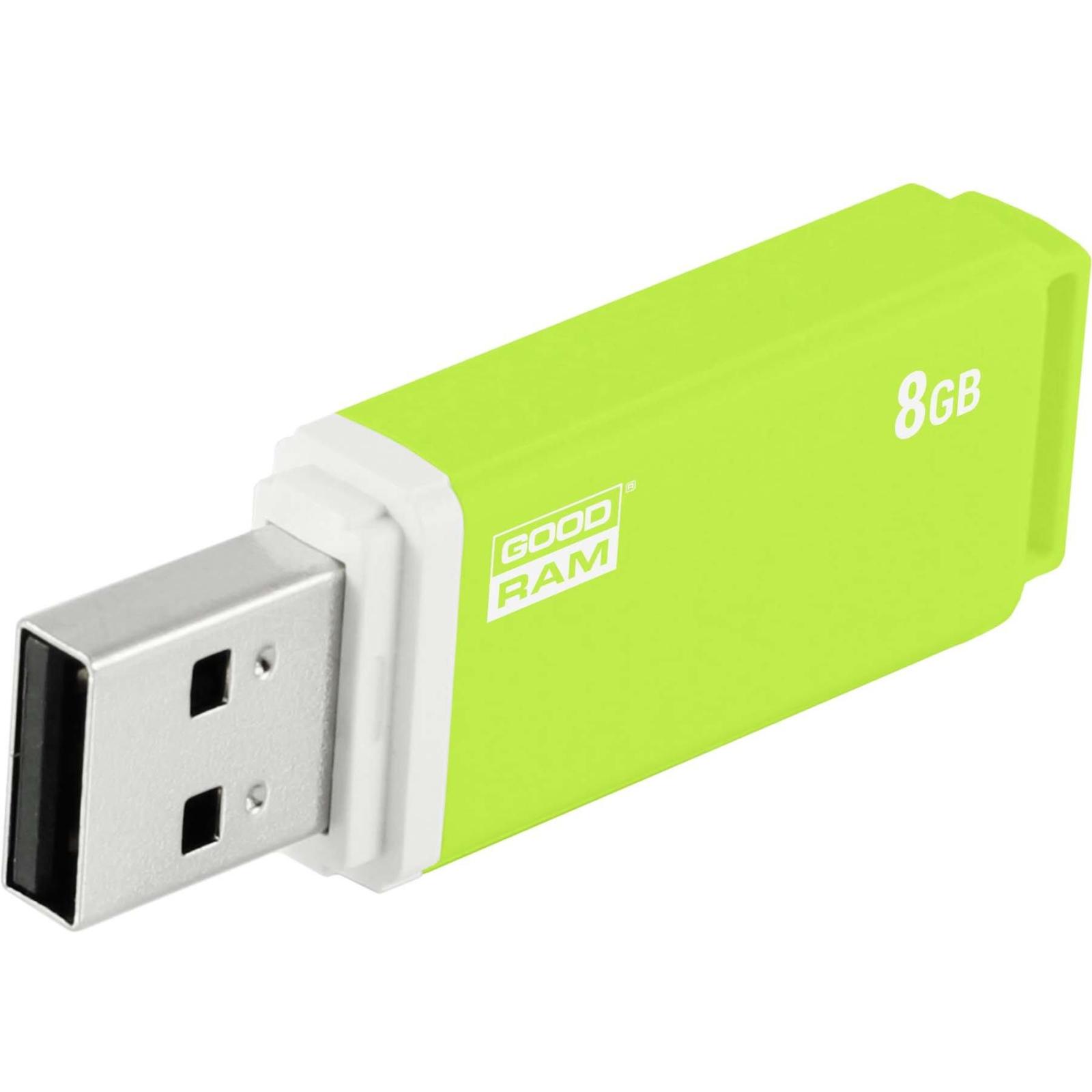 USB флеш накопитель Goodram 8GB UMO2 Green USB 2.0 (UMO2-0080G0R11) изображение 5