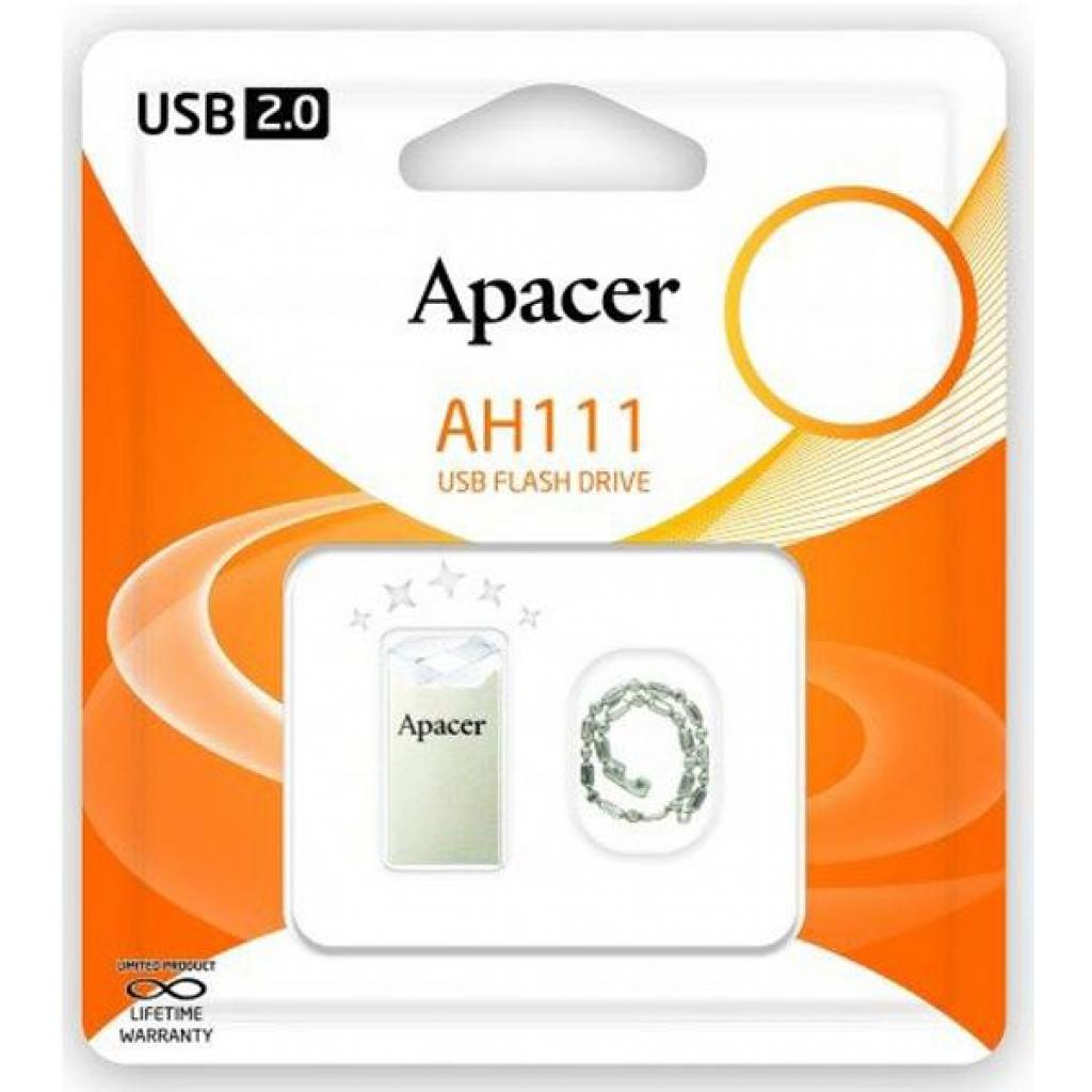 USB флеш накопитель Apacer 64GB AH111 Crystal USB 2.0 (AP64GAH111CR-1) изображение 4