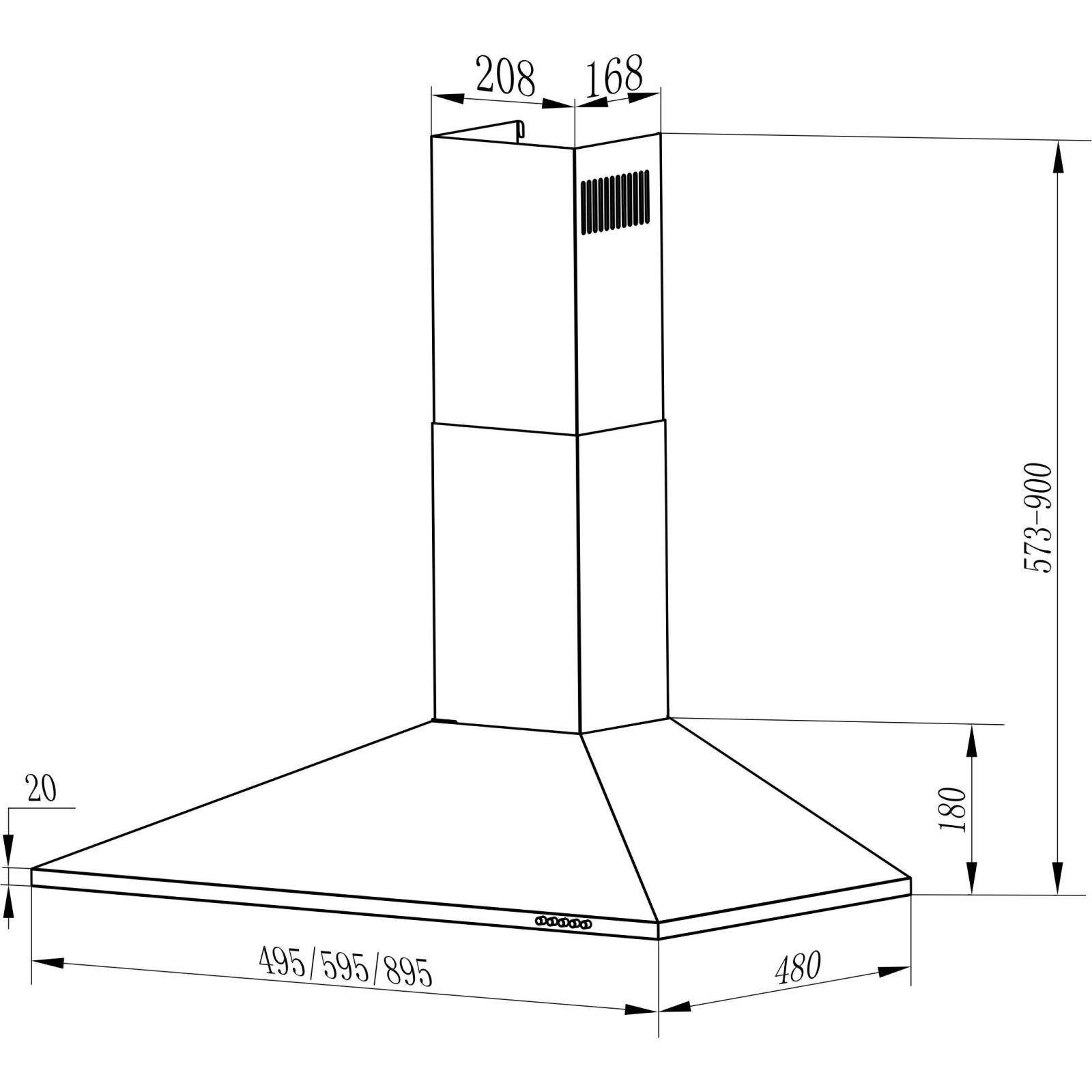 Вытяжка кухонная INTERLINE UNNA X A/60 PB/2/T изображение 6