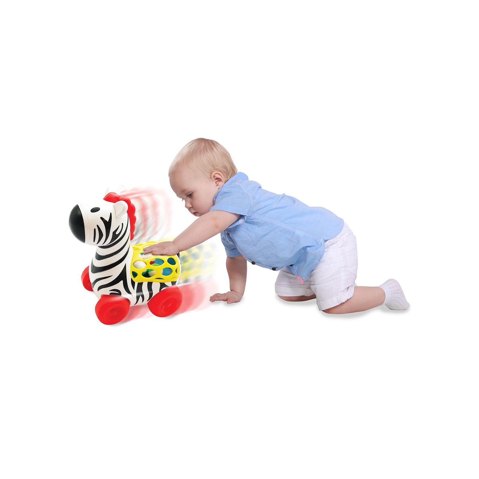 Развивающая игрушка Kiddieland Веселая зебра на колесах (056812) изображение 2