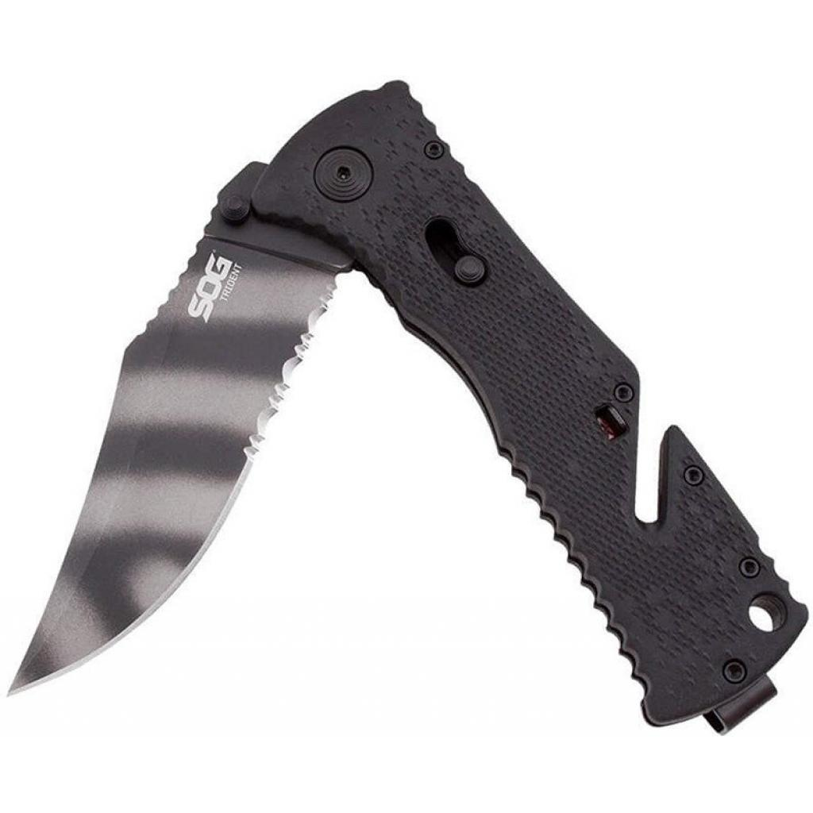 Нож SOG Trident Black Blade Serrated (TF3-BX) изображение 4