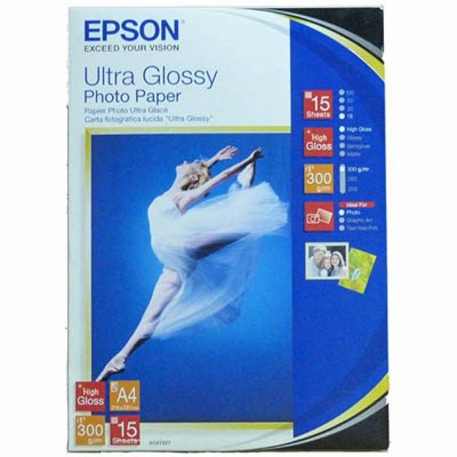 Бумага EPSON A4 Ultra Glossy Photo Paper (C13S041927)