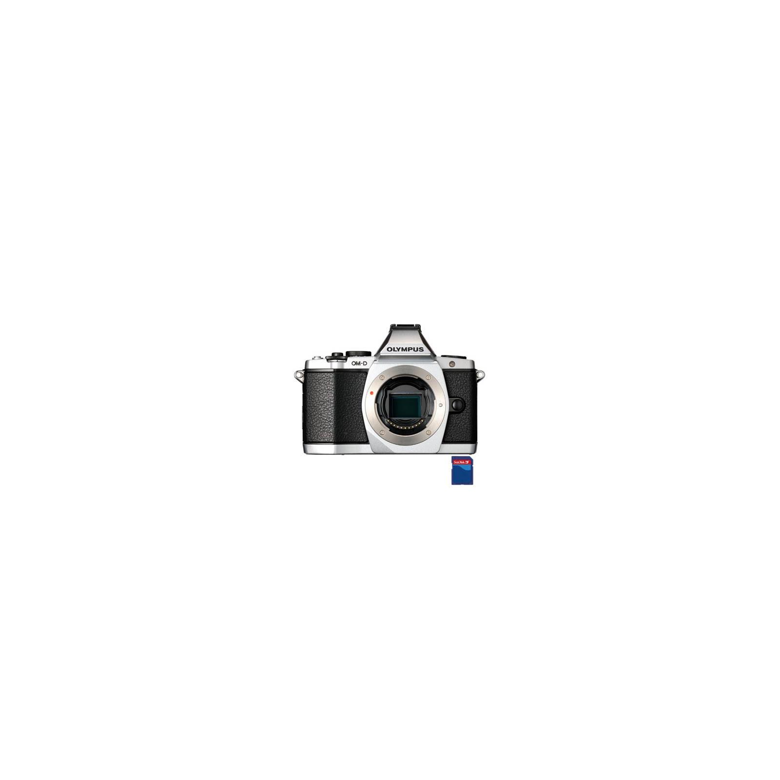 Цифровой фотоаппарат OLYMPUS OM-D E-M5 body silver (V204040SE000)