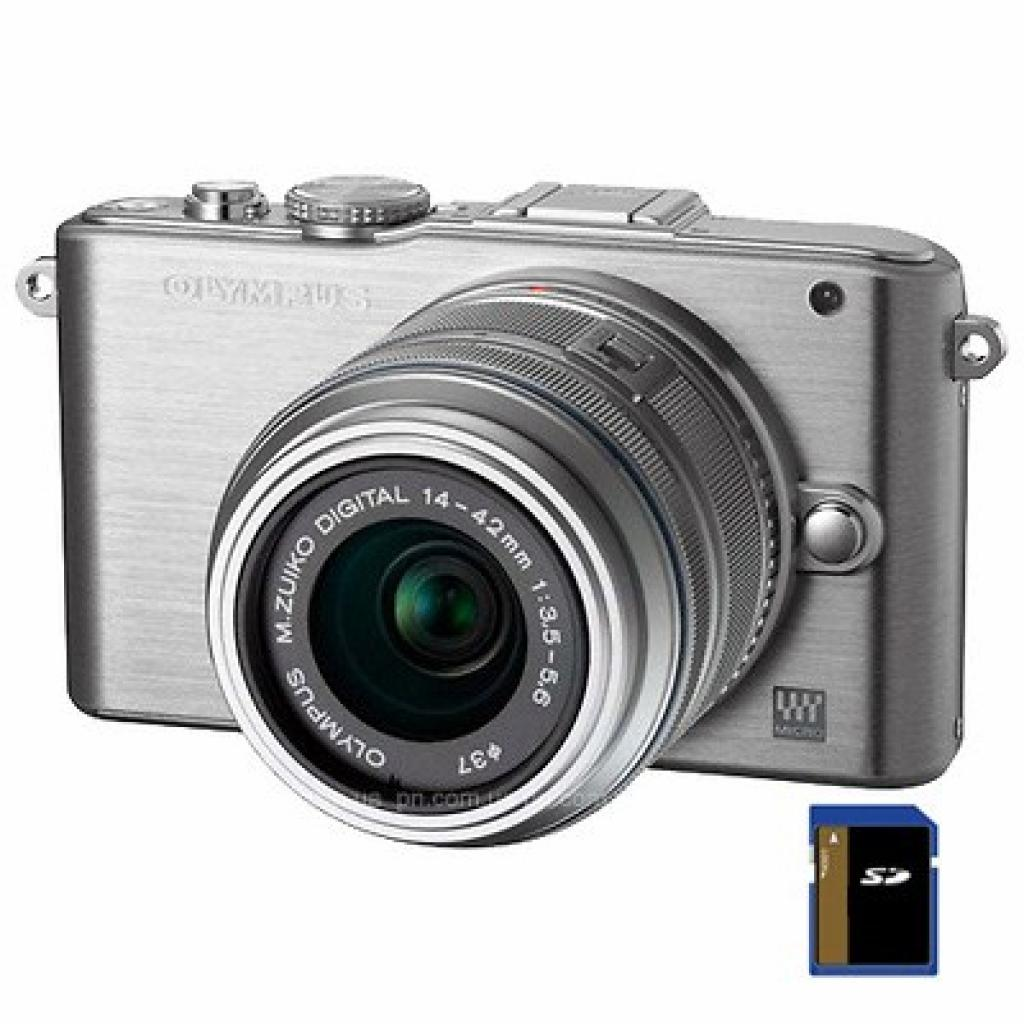 Цифровой фотоаппарат OLYMPUS PEN E-PL3 14-42 mm kit silver/silver (V20503BSE000/V205031SE000)