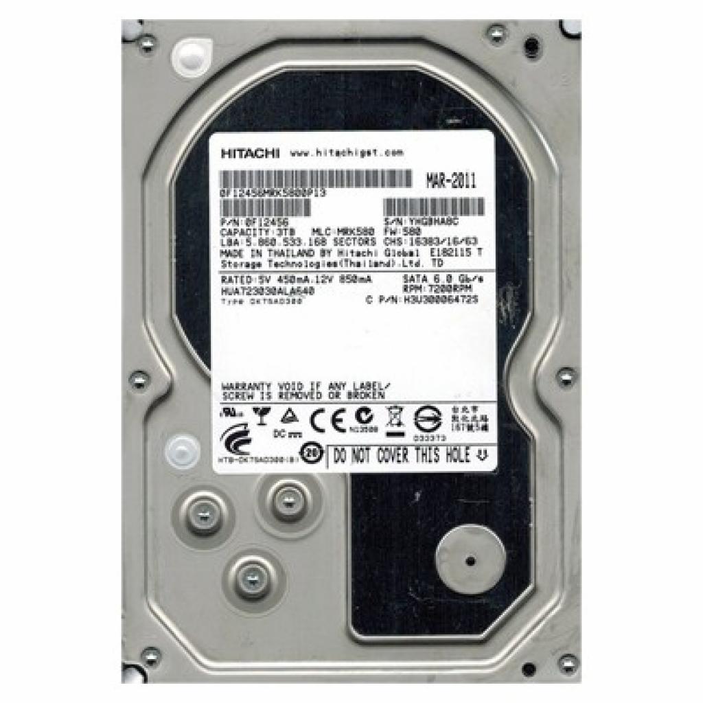 """Жесткий диск 3.5"""" 3TB Hitachi HGST (0F12456 / HUA723030ALA640)"""