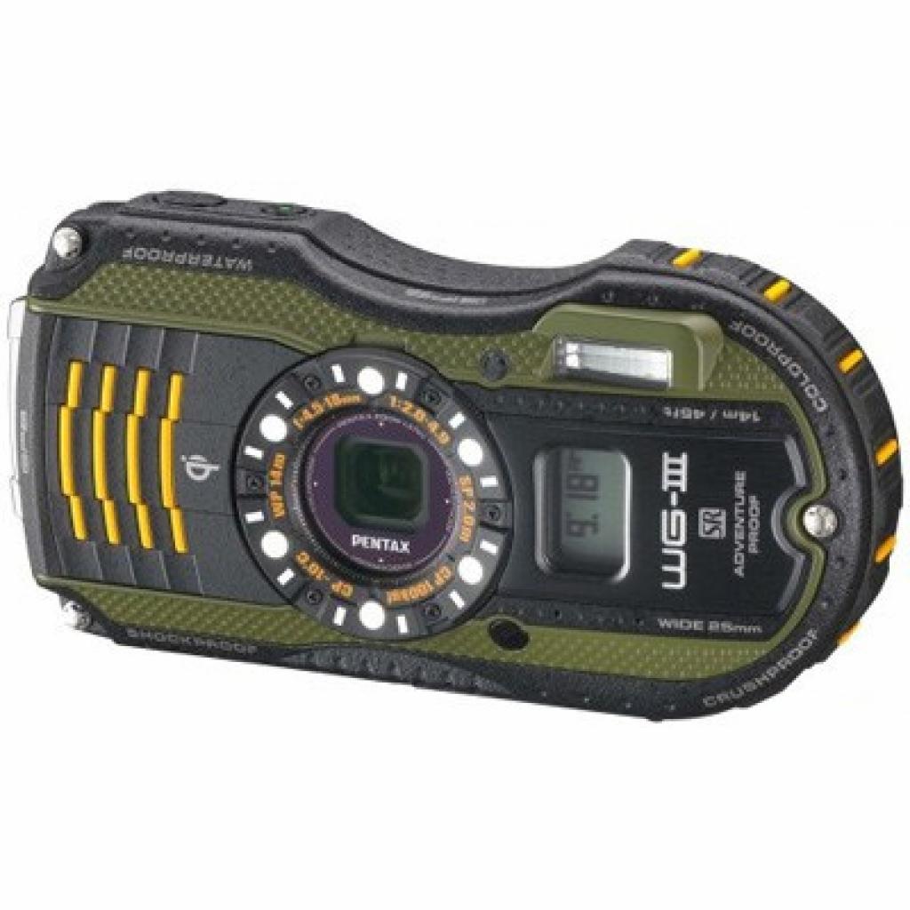 Цифровой фотоаппарат Pentax Optio WG-3 GPS black-green kit (1266100)