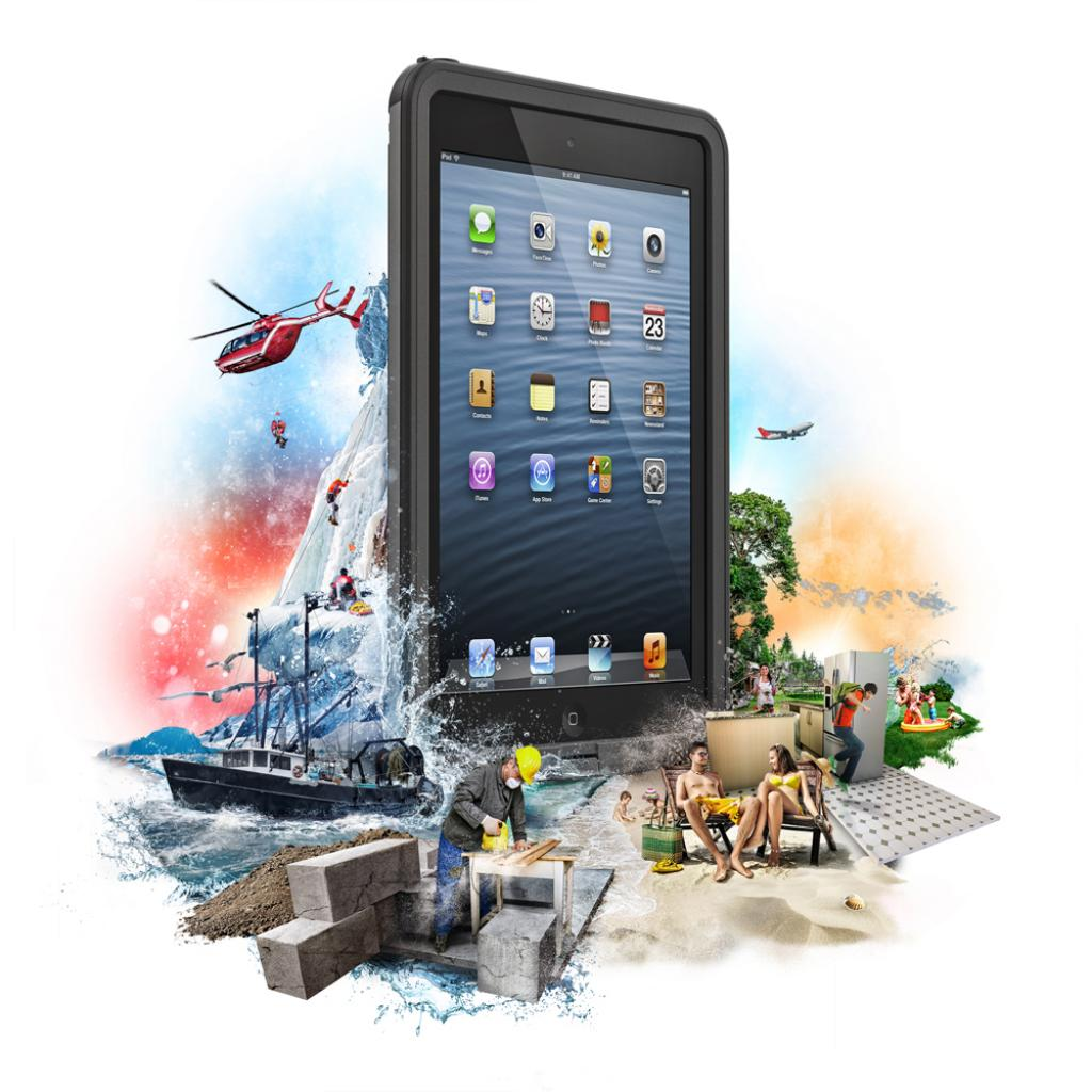 Чехол для планшета Belkin iPad mini LIFEPROOF Fre Black (1406-01) изображение 8
