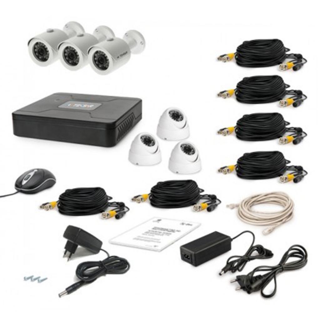 Комплект видеонаблюдения Tecsar AHD 6OUT MIX (6832)