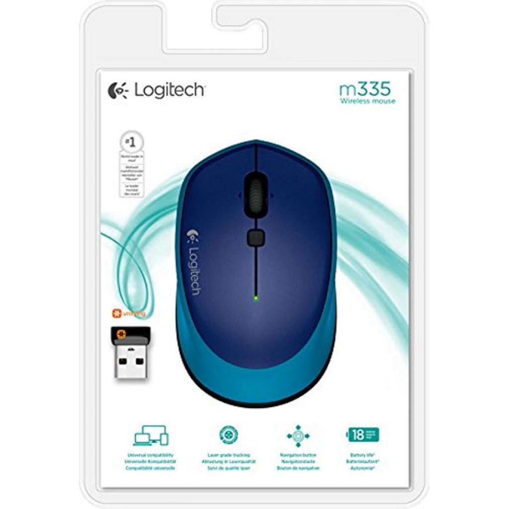 Мышка Logitech M335 Blue (910-004546) изображение 5