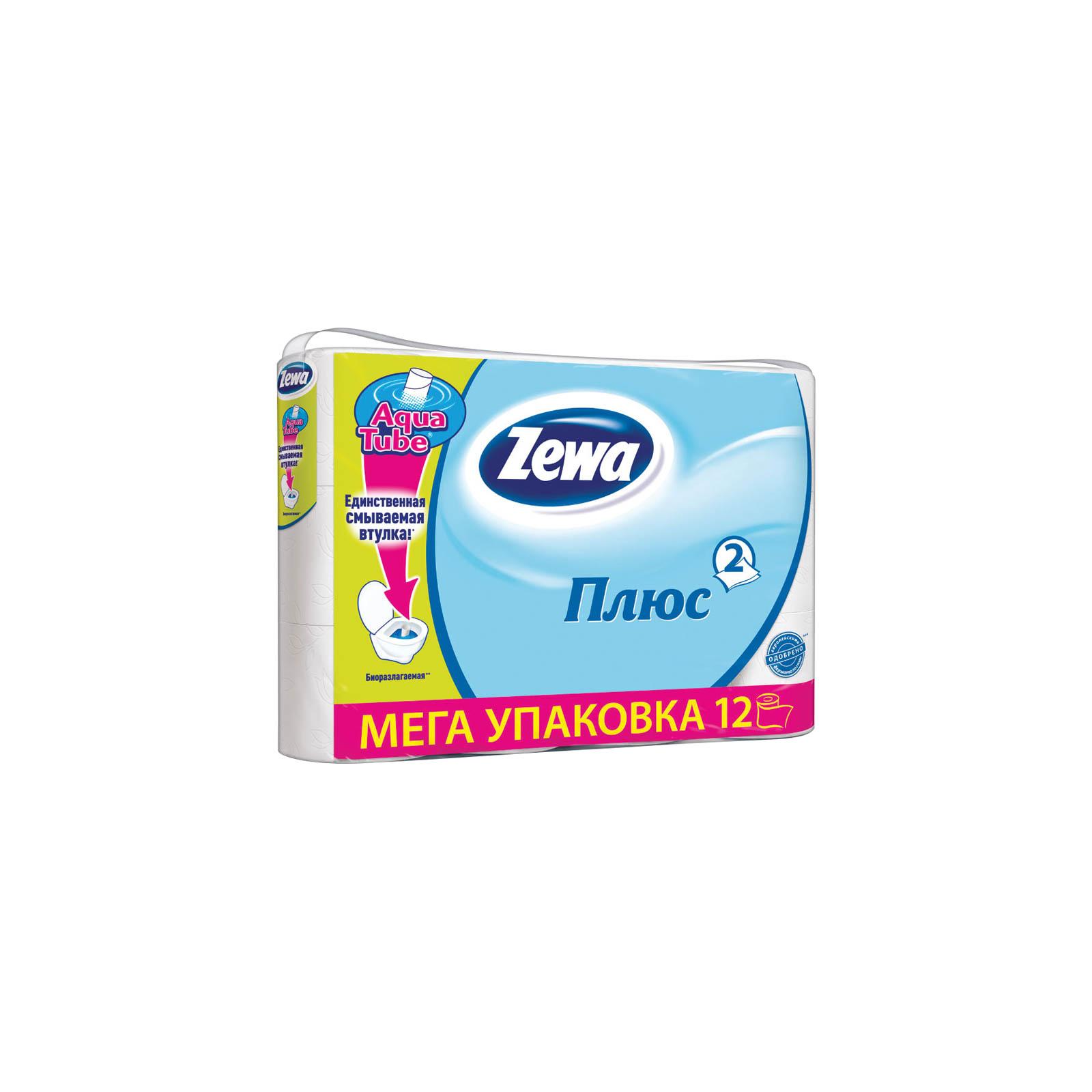 Туалетная бумага Zewa Plus 2-слойная Белая 12 шт (7322540508529)