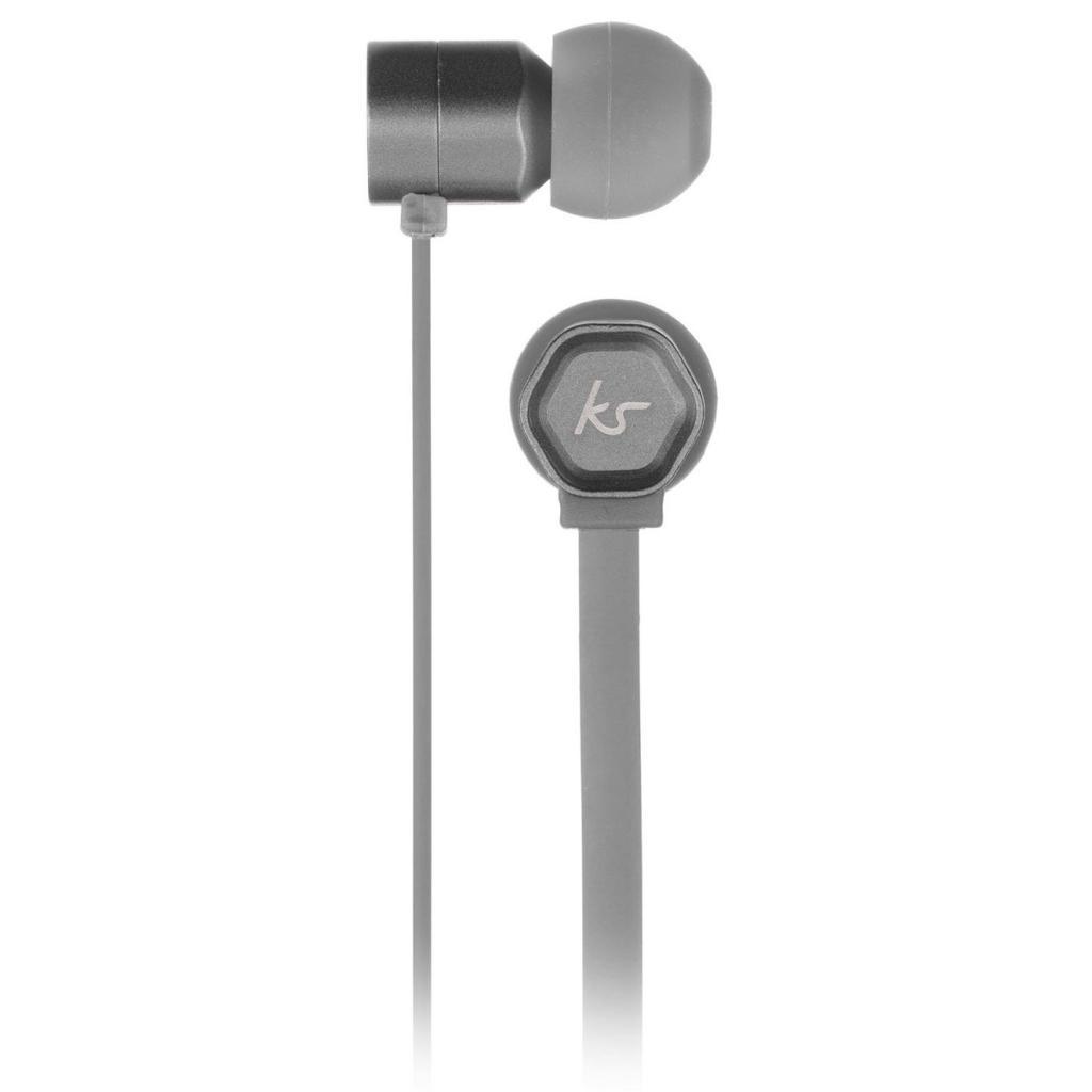 Наушники KitSound KS Hive Buds Earphones with Mic Grey (KSHIVBGY) изображение 3