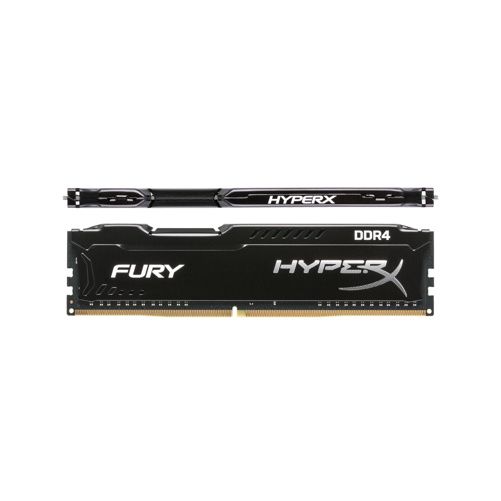 Модуль памяти для компьютера DDR4 16GB (2x8GB) 2133 MHz HyperX FURY Black HyperX (Kingston Fury) (HX421C14FB2K2/16) изображение 3