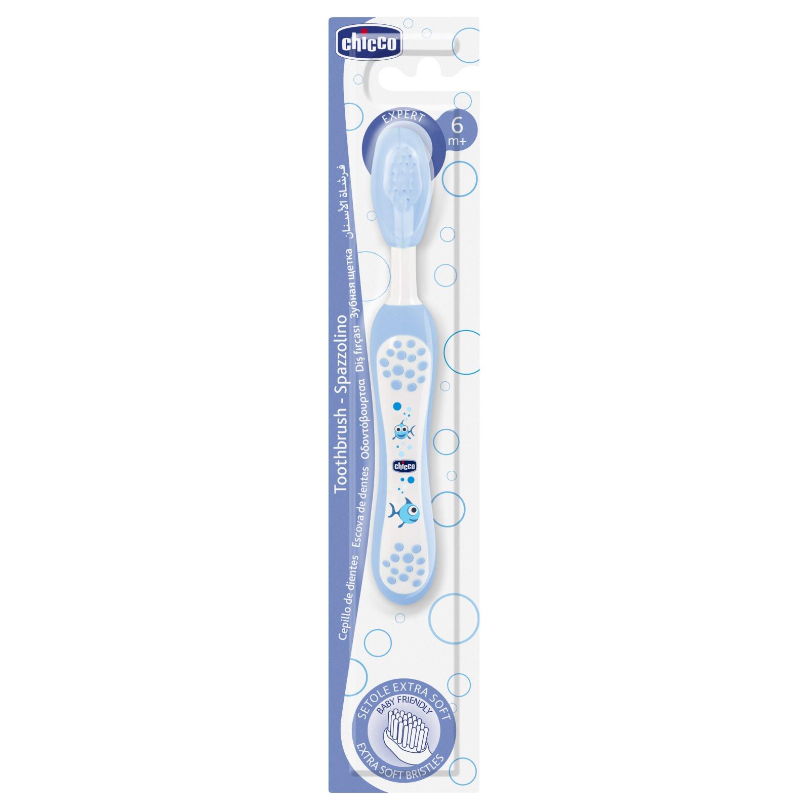 Детская зубная щетка Chicco голубая (06958.20) изображение 3